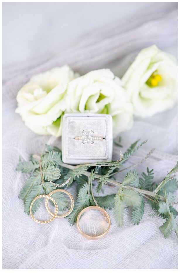 engagement ring in a pretty velvet ring box