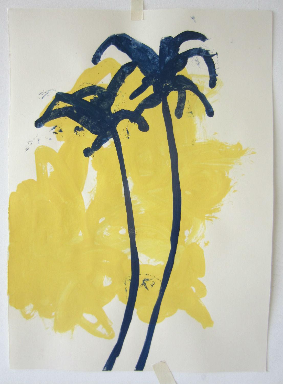 blue/yellow palm study