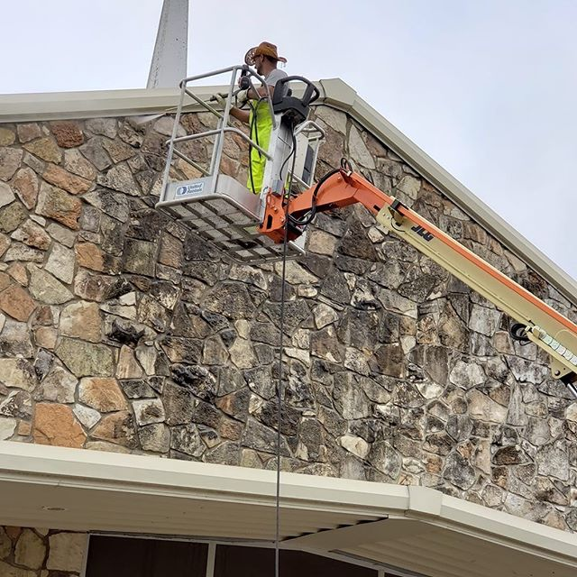 The church is getting a facelift today.