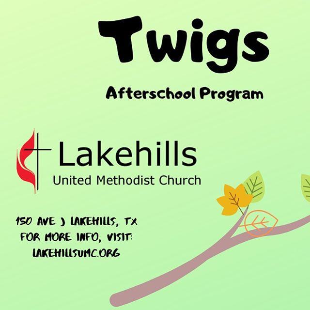 Visit lakehillsumc.org/twigs  to register your kiddos.