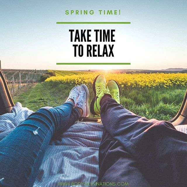 Spring has sprung! Take a deep breath and relax into it. 😌