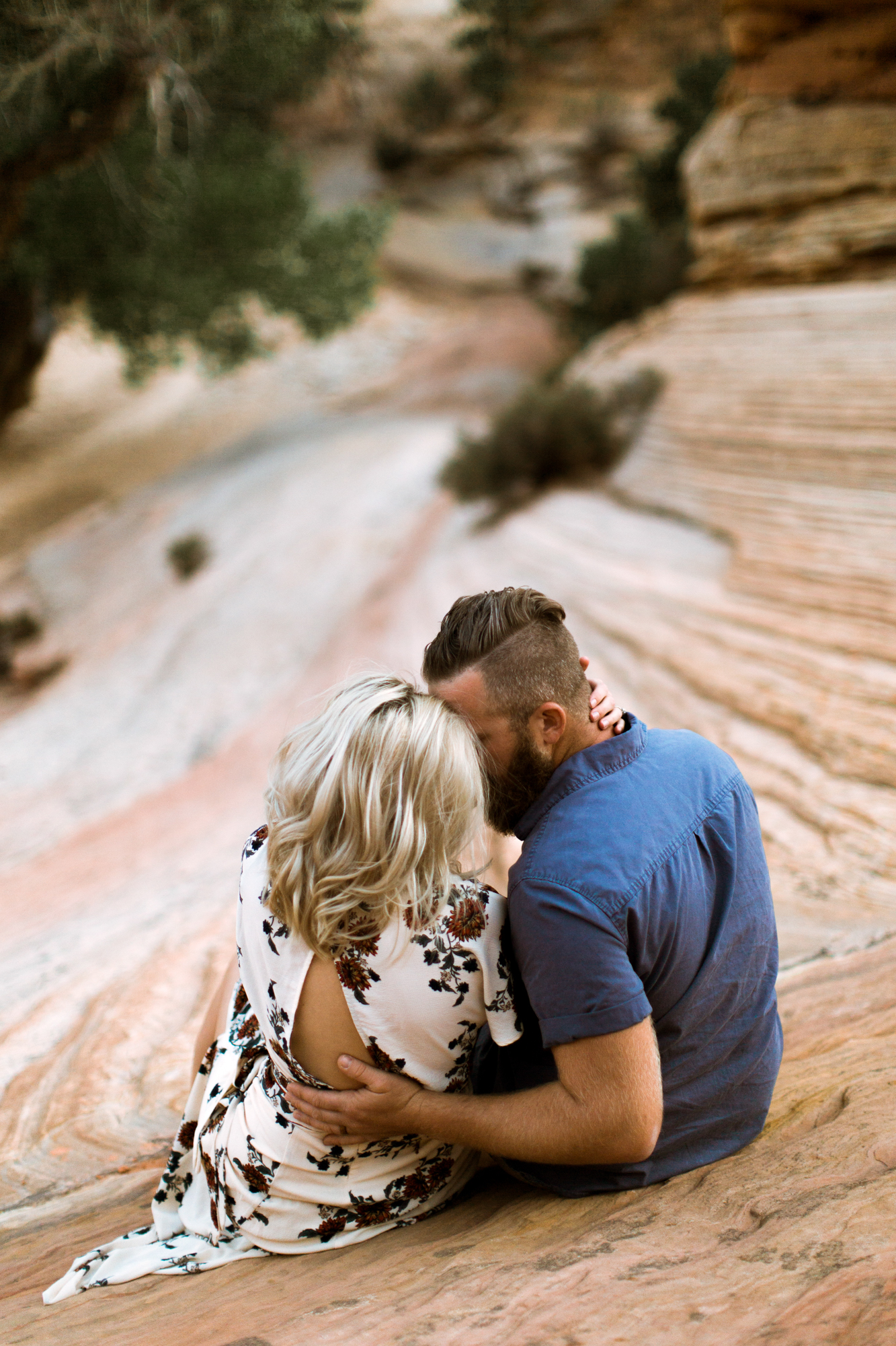 Zion National Park anniversary portrait session // adventure wedding photographer // www.abbihearne.com
