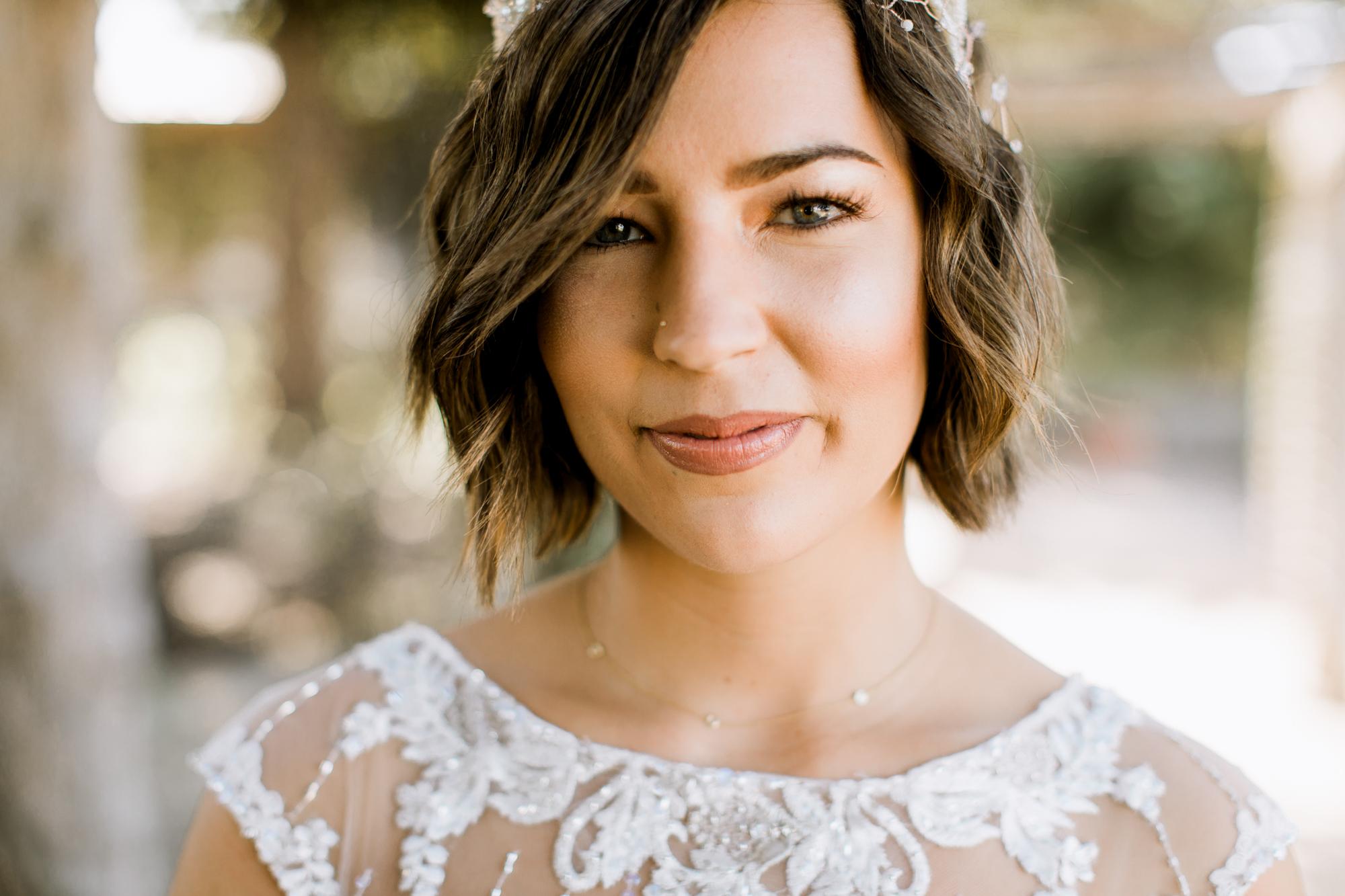 hipster bride // Fall Garden party wedding at Lady Bird Johnson Wildflower Center // austin, texas wedding photographer // www.abbihearne.com