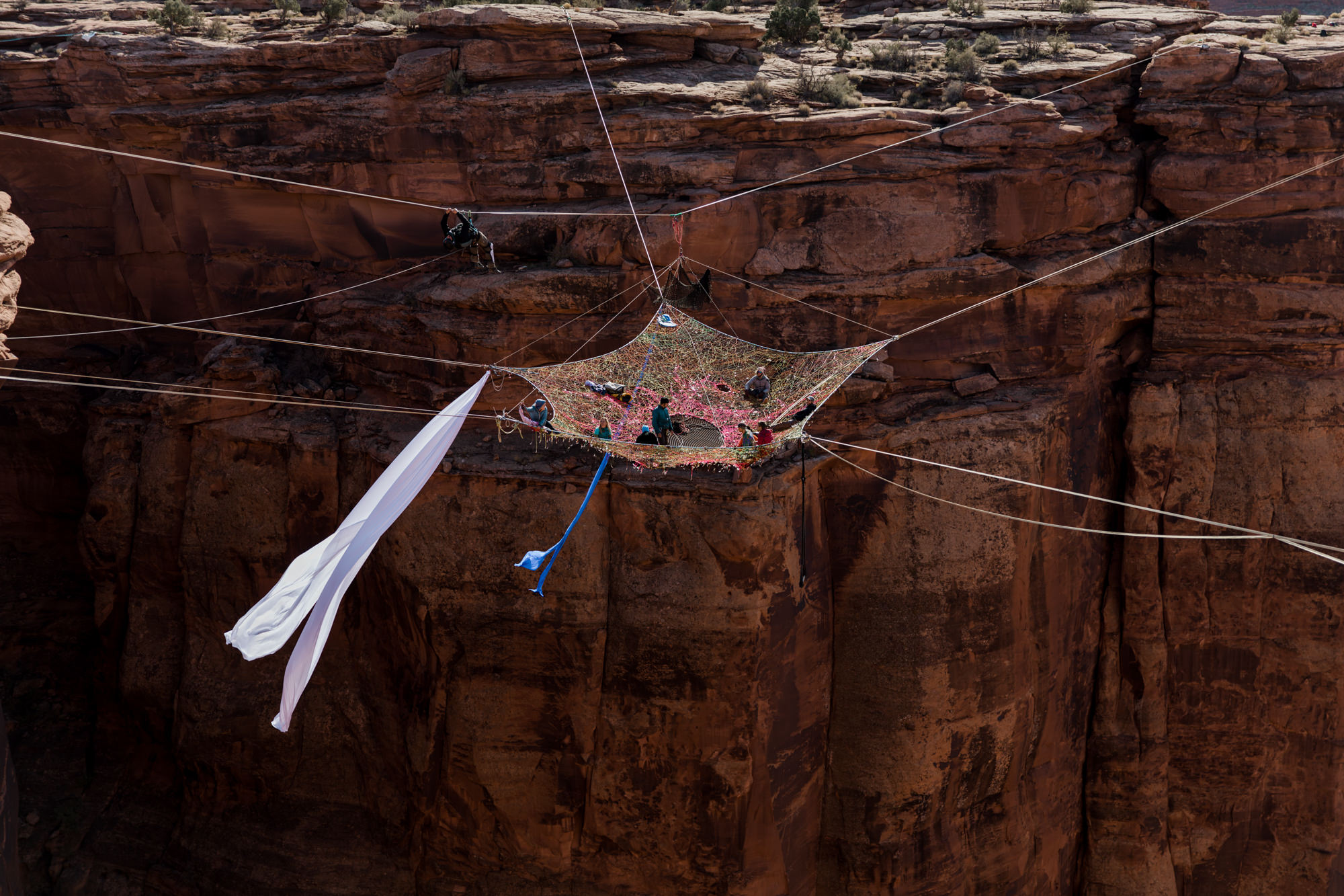 BASE jumping, Highlining, and Rock Climbing in Moab, Utah // extreme sports adventure photography // GGBY + Turkey Boogie 2016 // www.abbihearne.com