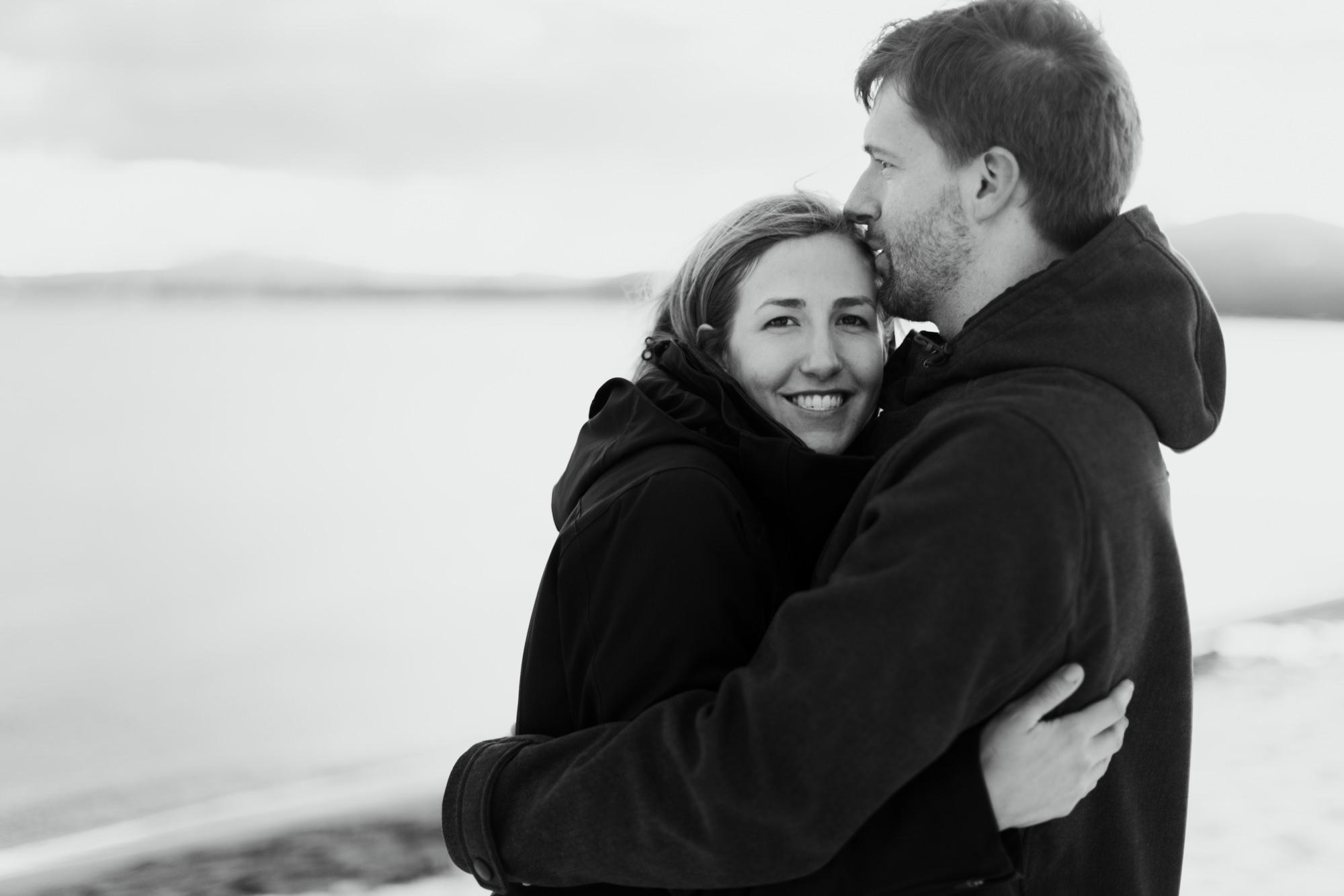 snowy lake tahoe engagement photos // california wedding photographer // www.abbihearne.com