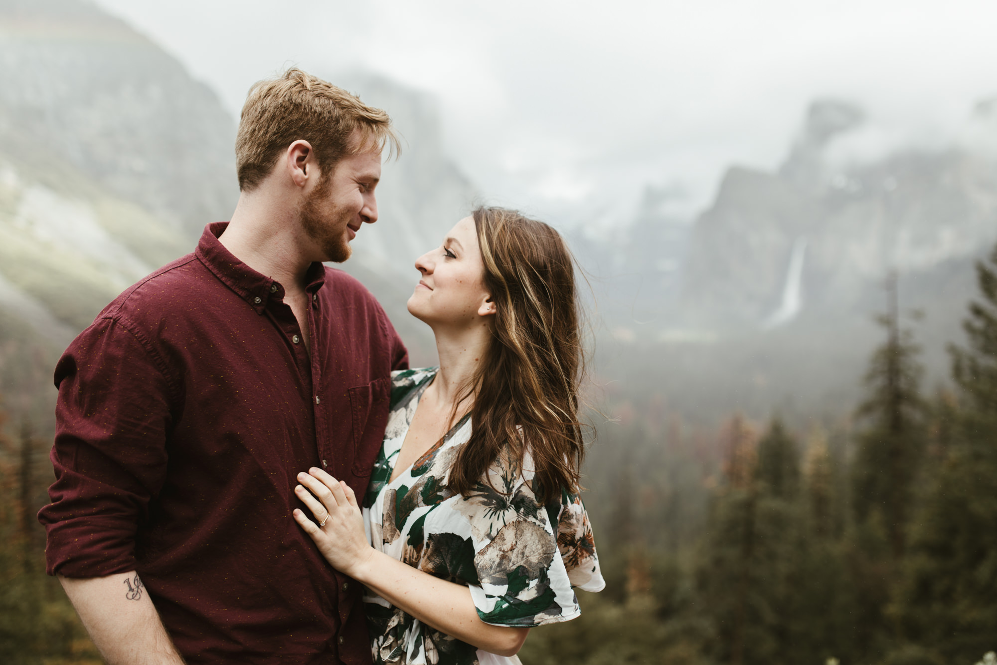 adventure engagement photo session in yosemite national park // california wedding and elopement photographer // www.abbihearne.com