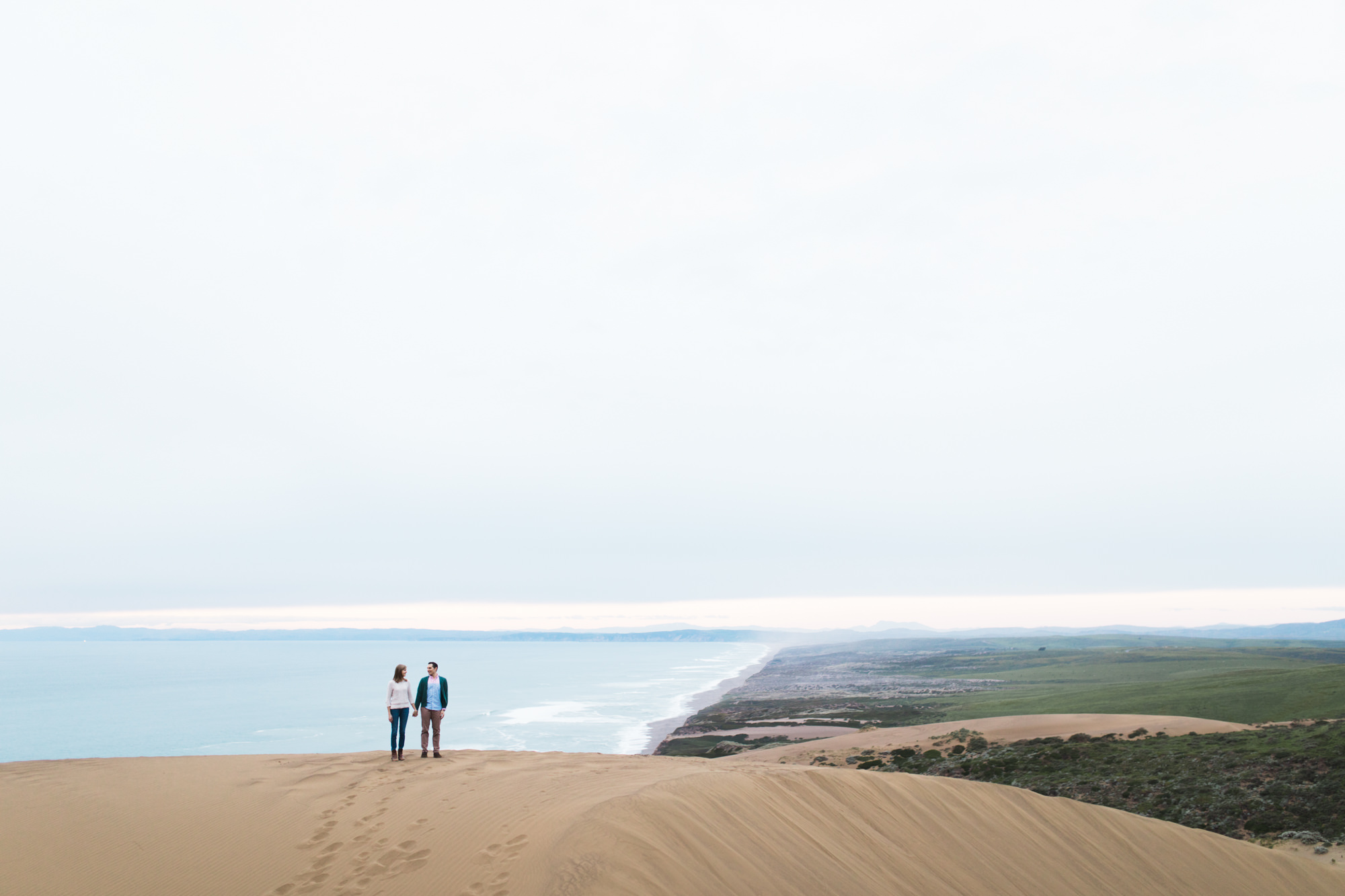 adventurous engagement photo session at point reyes national seashore // california wedding photographer // www.abbihearne.com