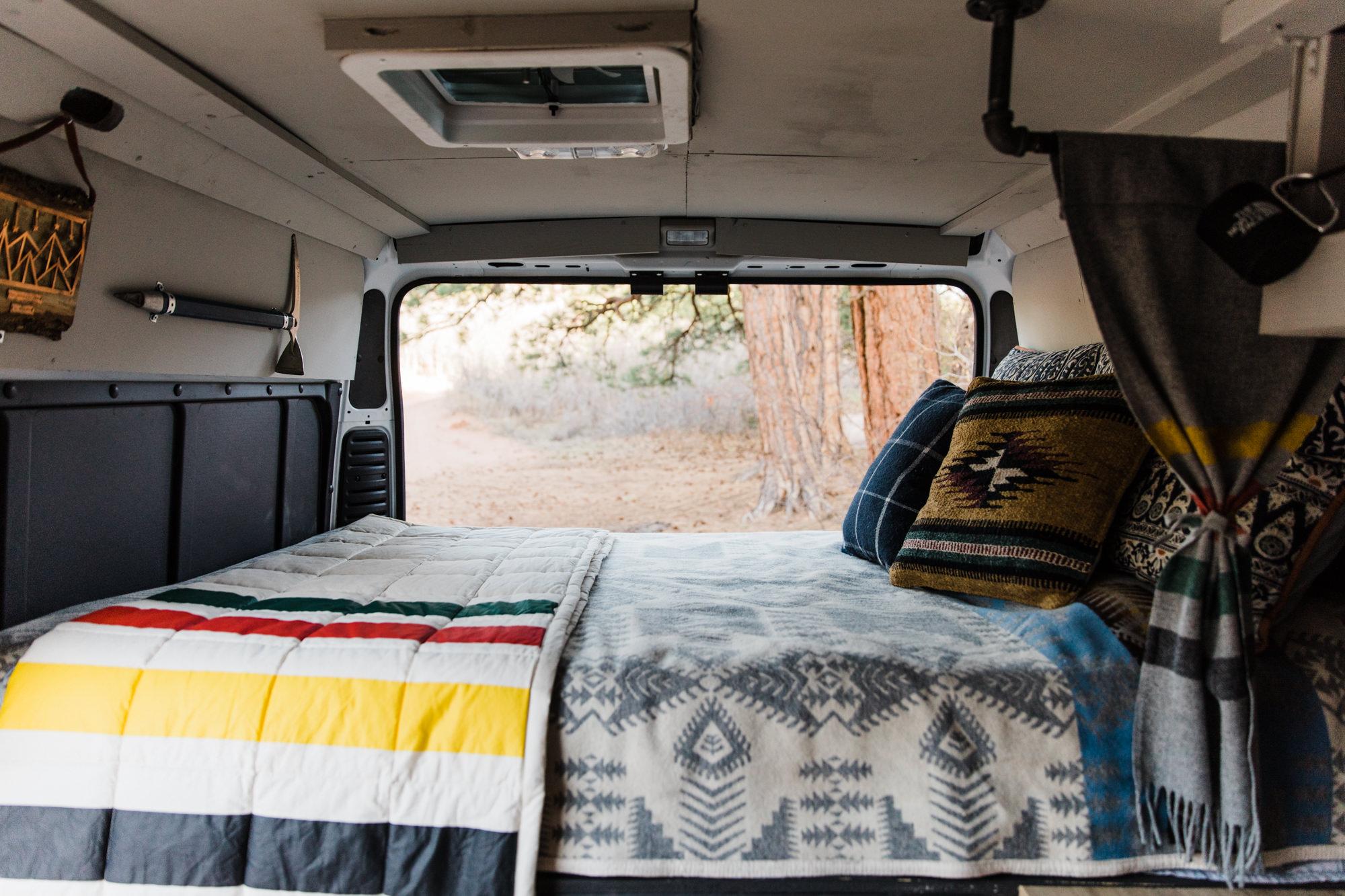 van life in moab, utah // our promaster van build // pendleton styled camper