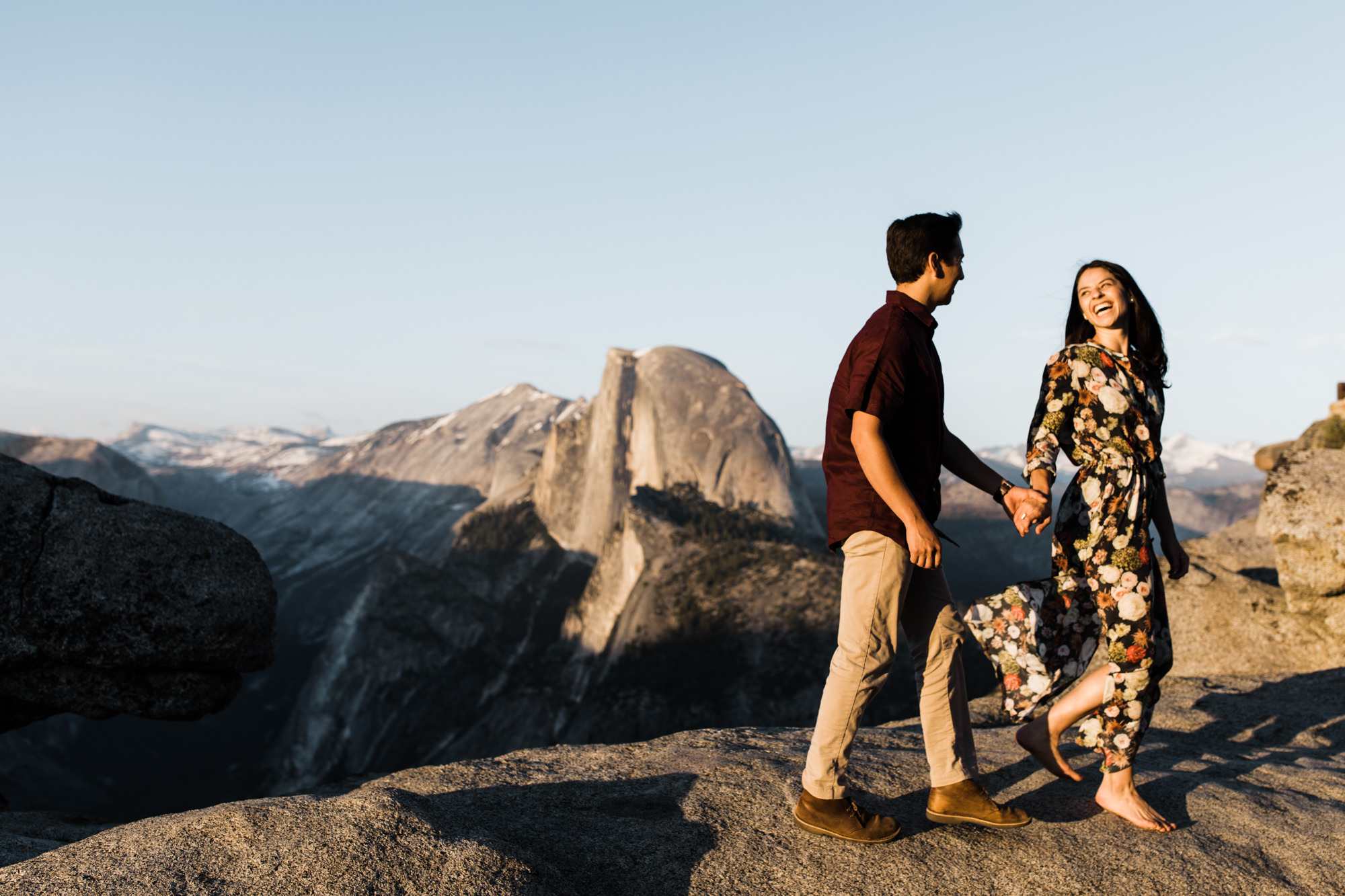 Yosemite adventure engagement session   national park sunset photos   california intimate wedding photographer   half dome engagement photos   www.thehearnes.com