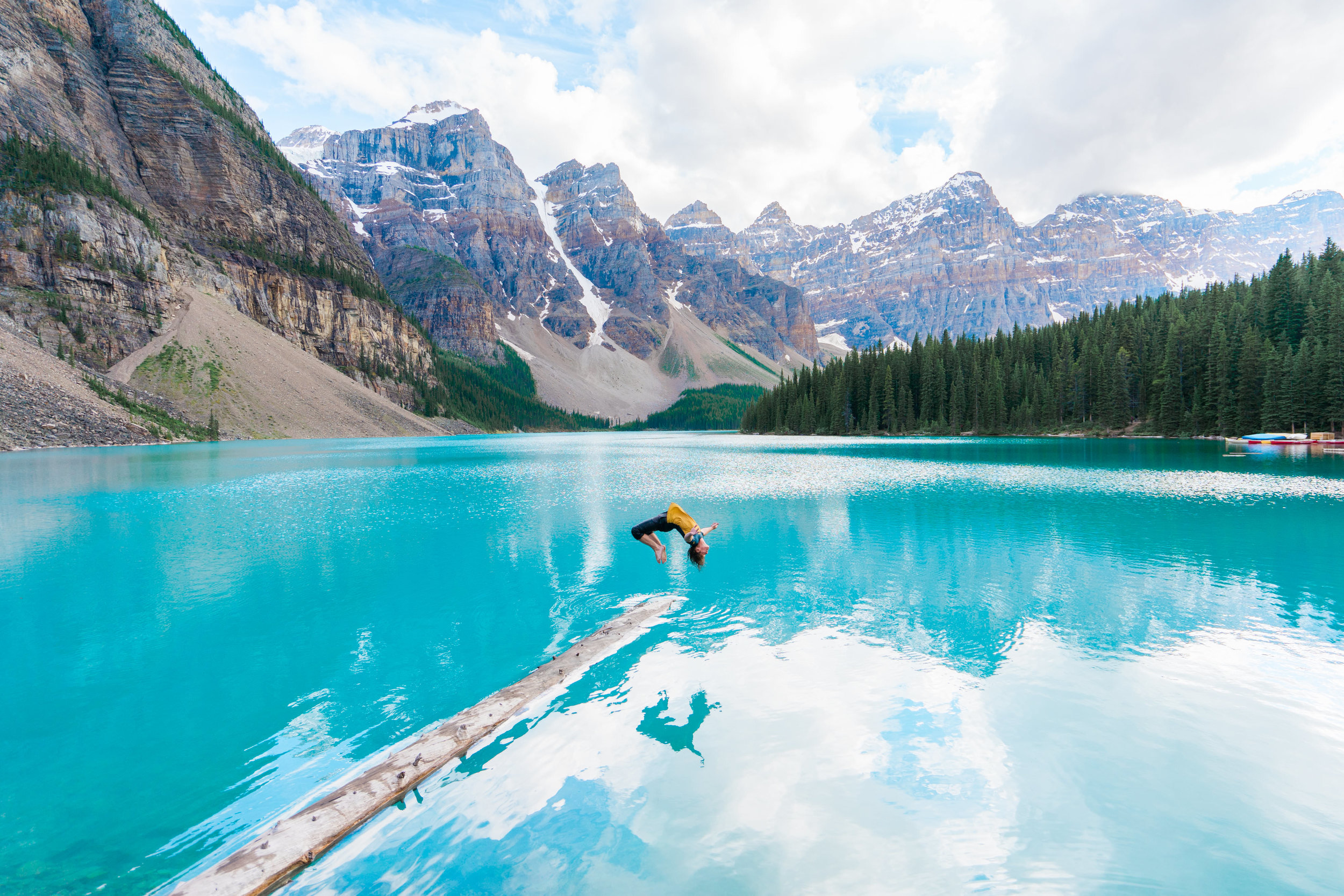 exploring canada in banff national park