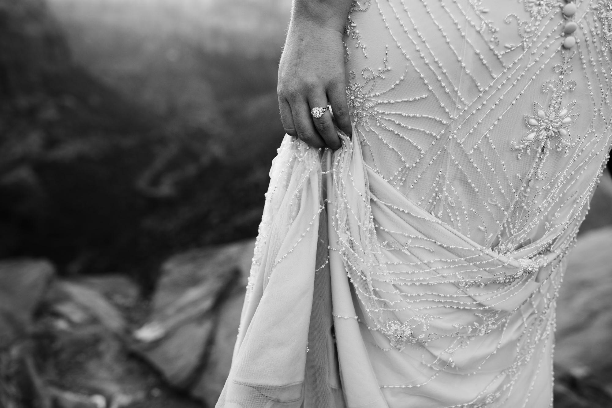 las vegas elopement at the neon museum | bhldn bride | sunset wedding portraits at zion national park |utah adventure wedding photographer | the hearnes adventure photography | www.thehearnes.com