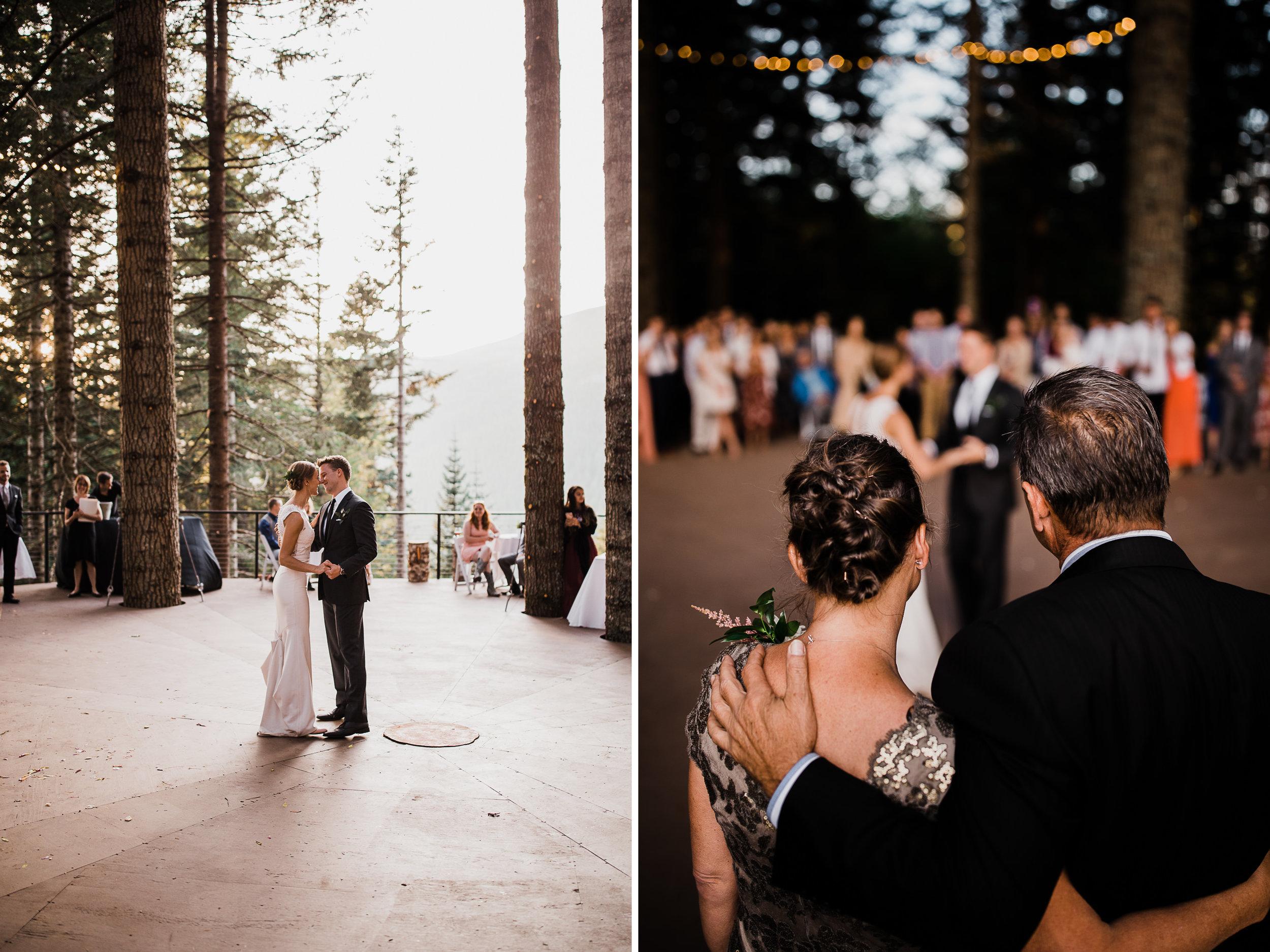 jena + kyler's treehouse wedding | outdoor reception under the stars |washington adventure wedding photographer | the hearnes adventure wedding photography | www.thehearnes.com