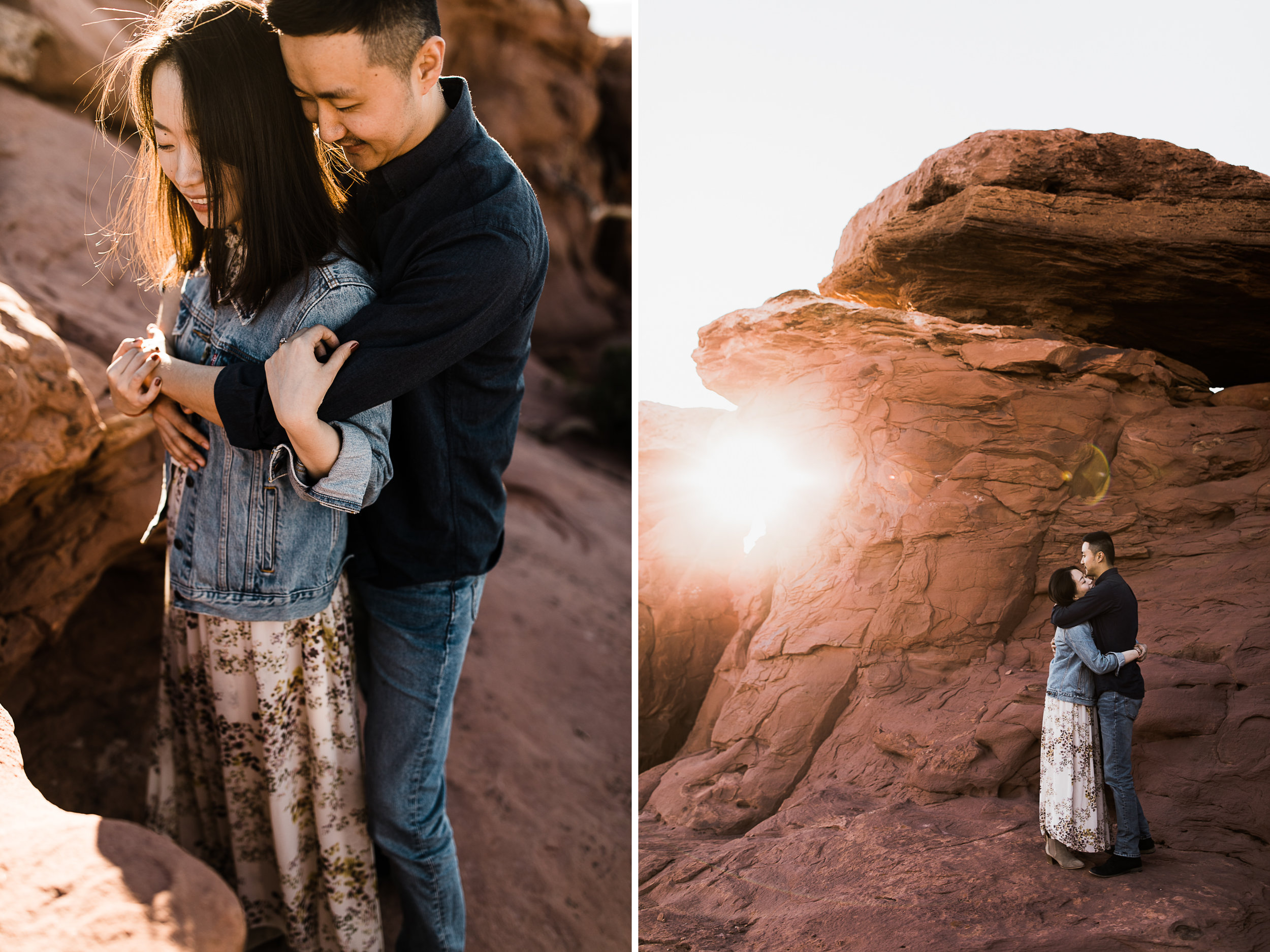 julie + ray's adventurous desert engagement session | canyonlands national park | utah adventure elopement photographer | the hearnes adventure photography | www.thehearnes.com