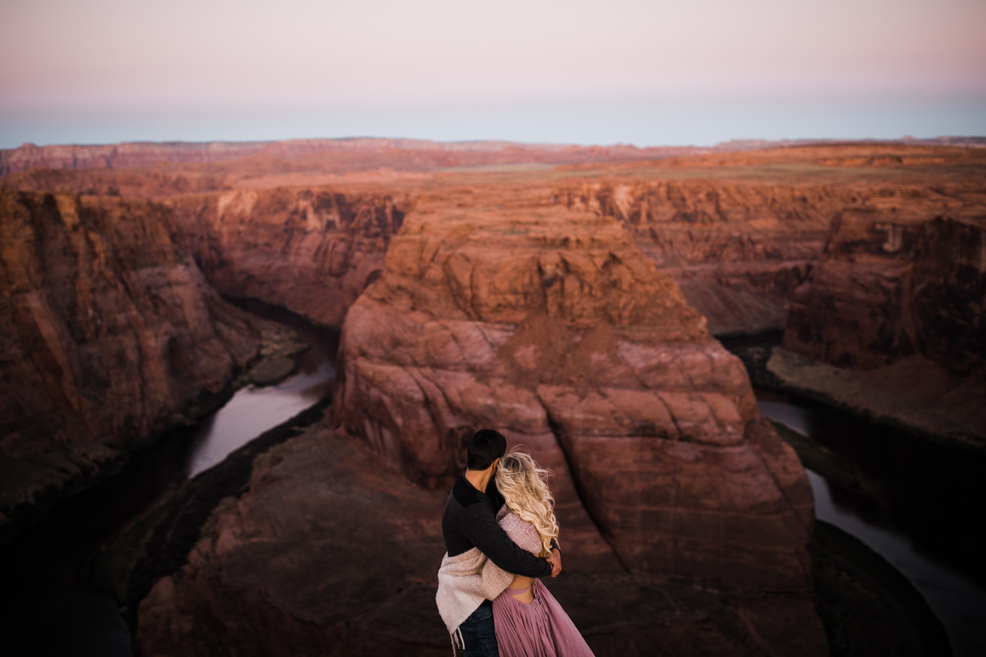 chelsea + jorge's day-after wedding adventure session in page, arizona | horseshoe bend | adventure elopement photographer | the hearnes adventure photography | www.thehearnes.com