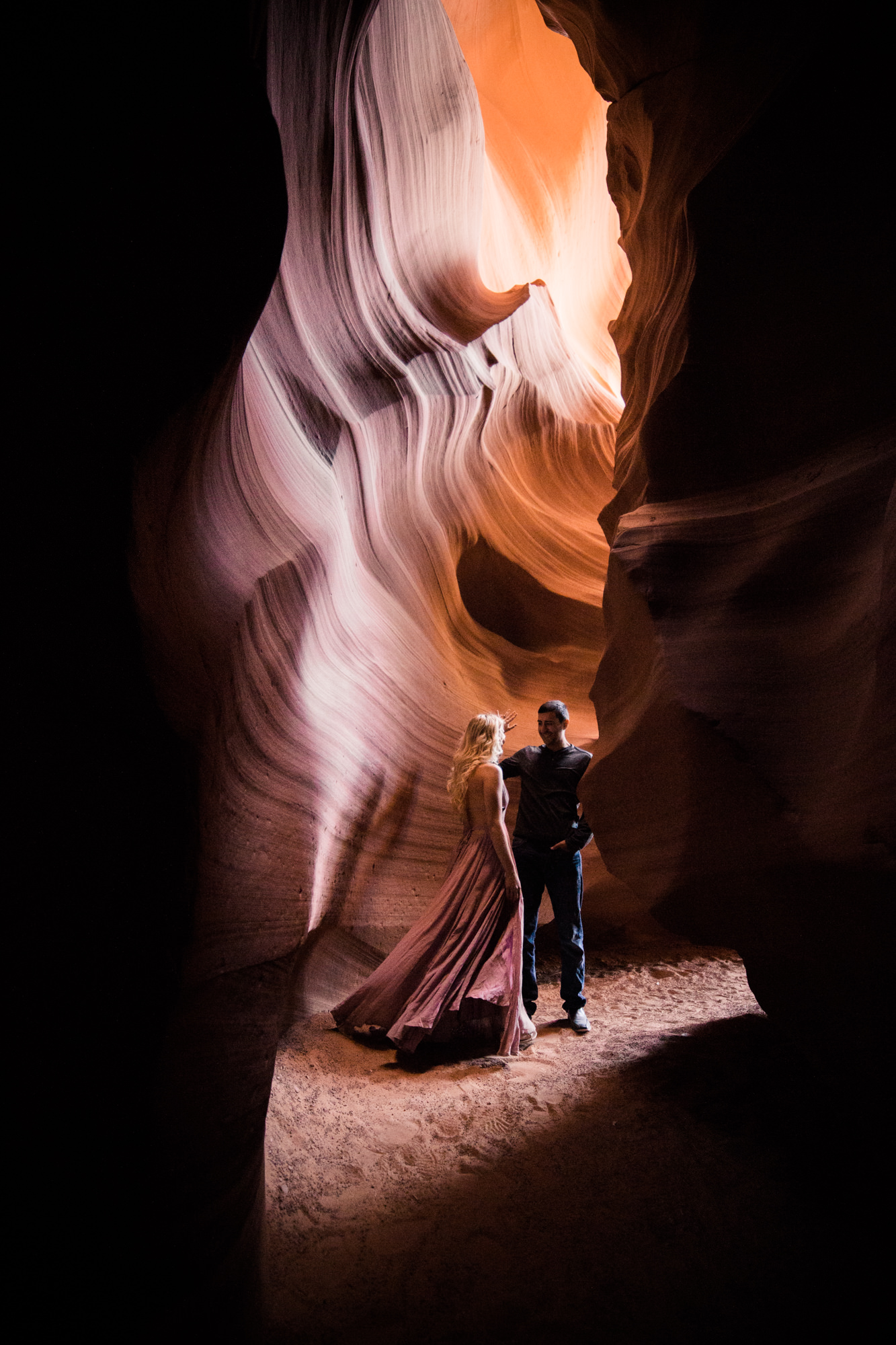 chelsea + jorge's day-after wedding adventure session in page, arizona | antelope canyon | adventure elopement photographer | the hearnes adventure photography | www.thehearnes.com