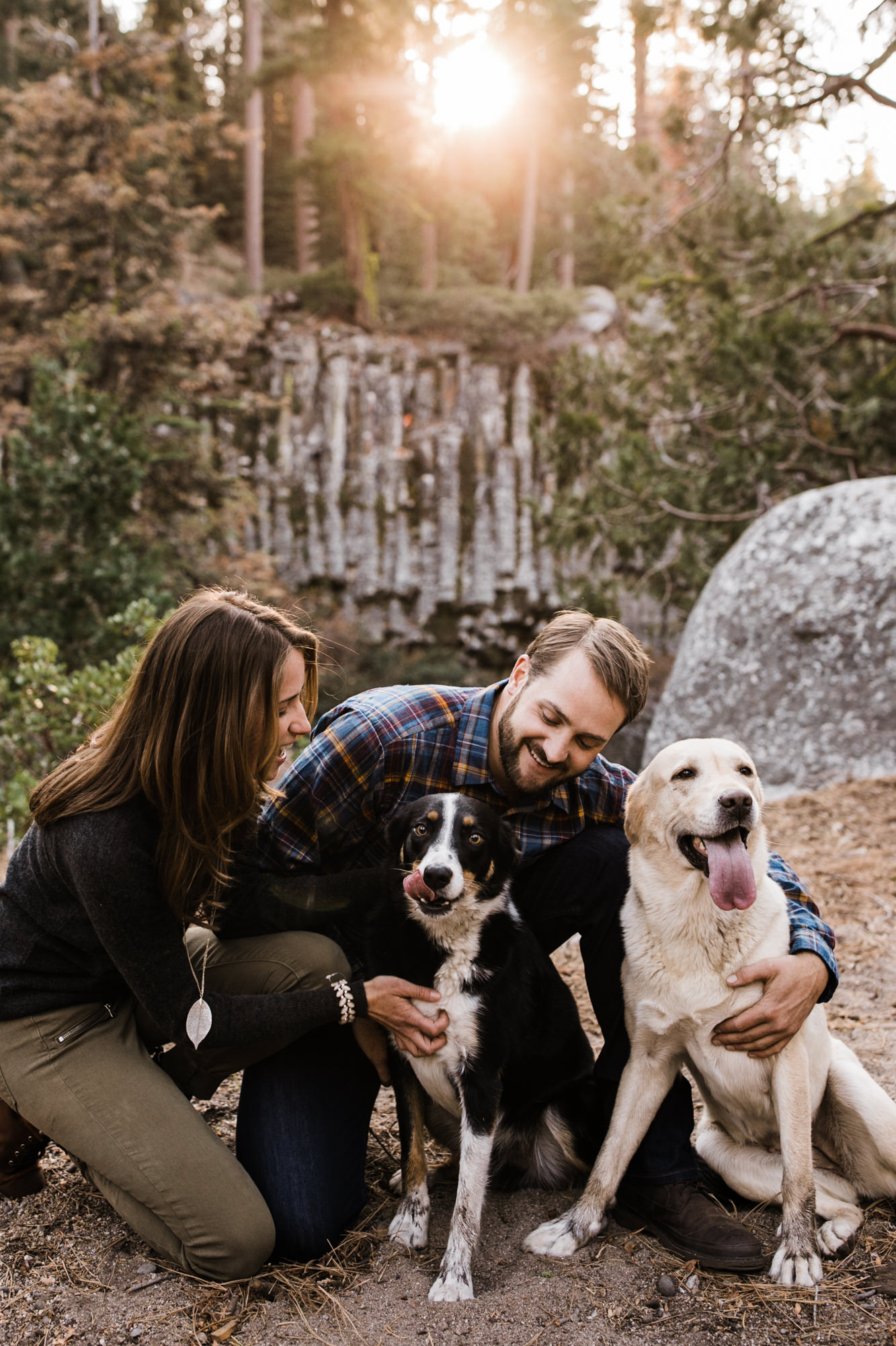 lauren + nick's adventurous national forest engagement session | california adventure elopement photographer | the hearnes adventure photography | www.thehearnes.com