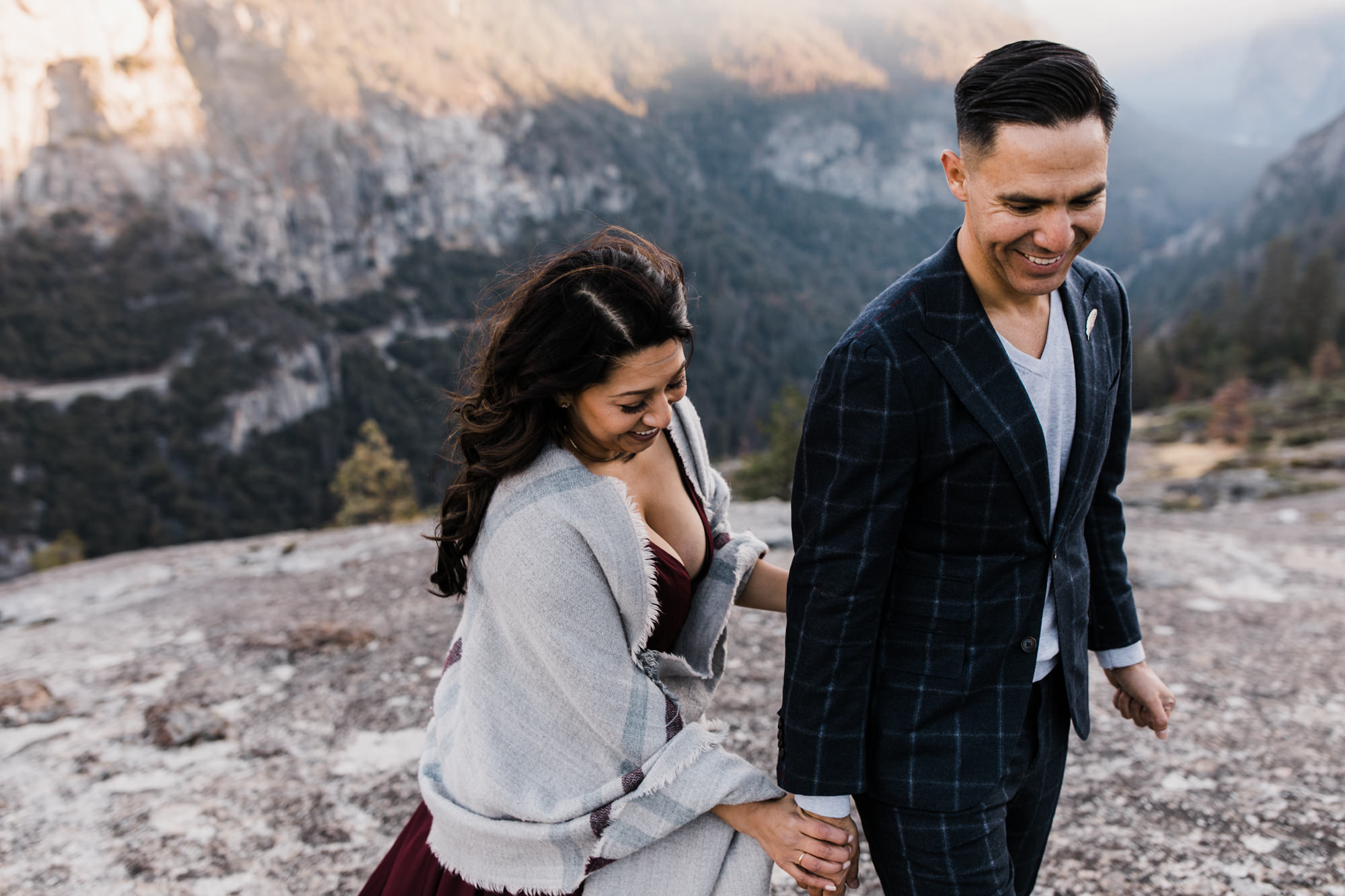 ray + ema's adventurous fall engagement session | yosemite national park | california adventure elopement photographer | the hearnes adventure photography | www.thehearnes.com