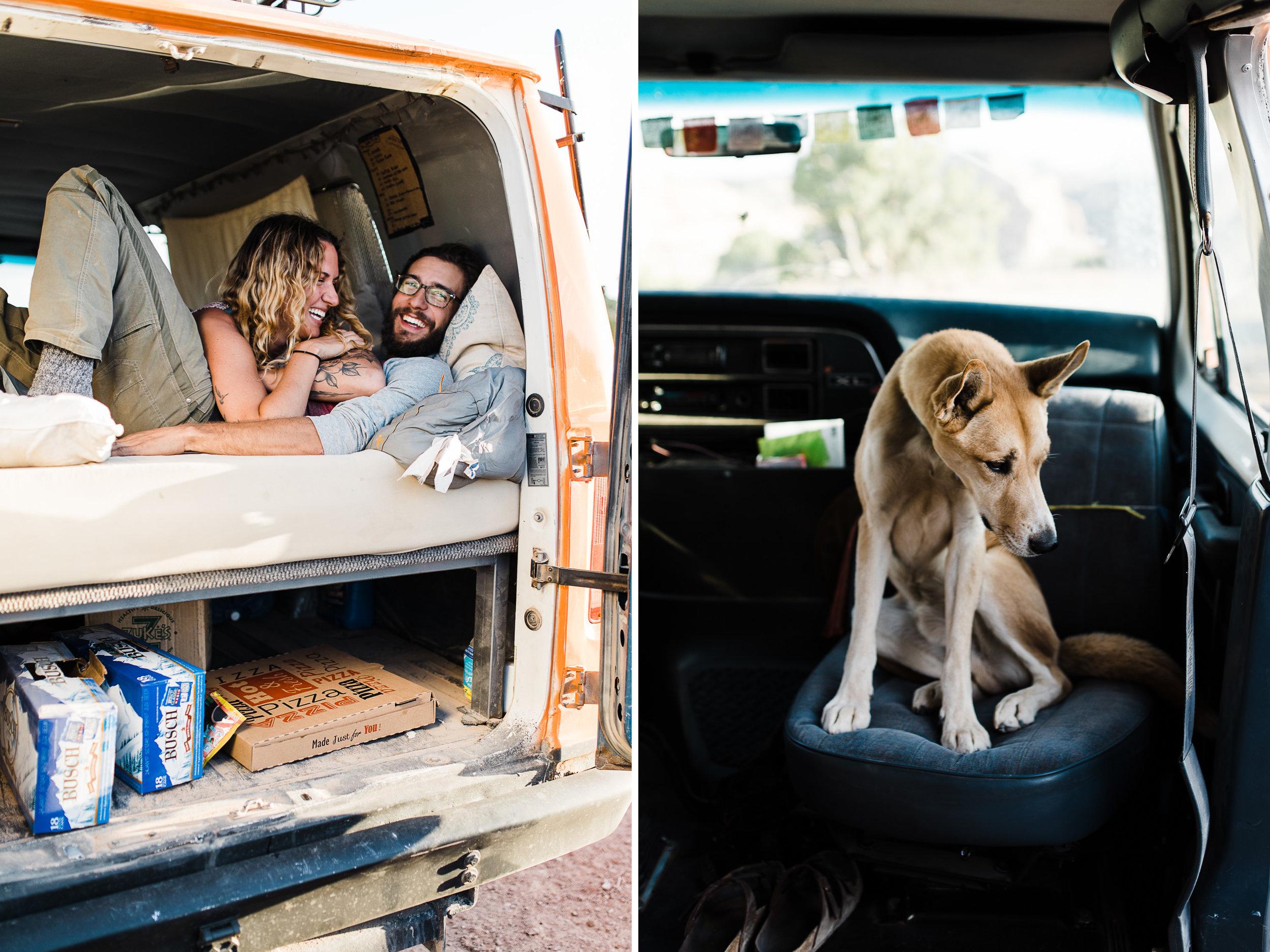adventure van life session in utah n| destination engagement photo inspiration | utah adventure elopement photographers | the hearnes adventure photography | www.thehearnes.com