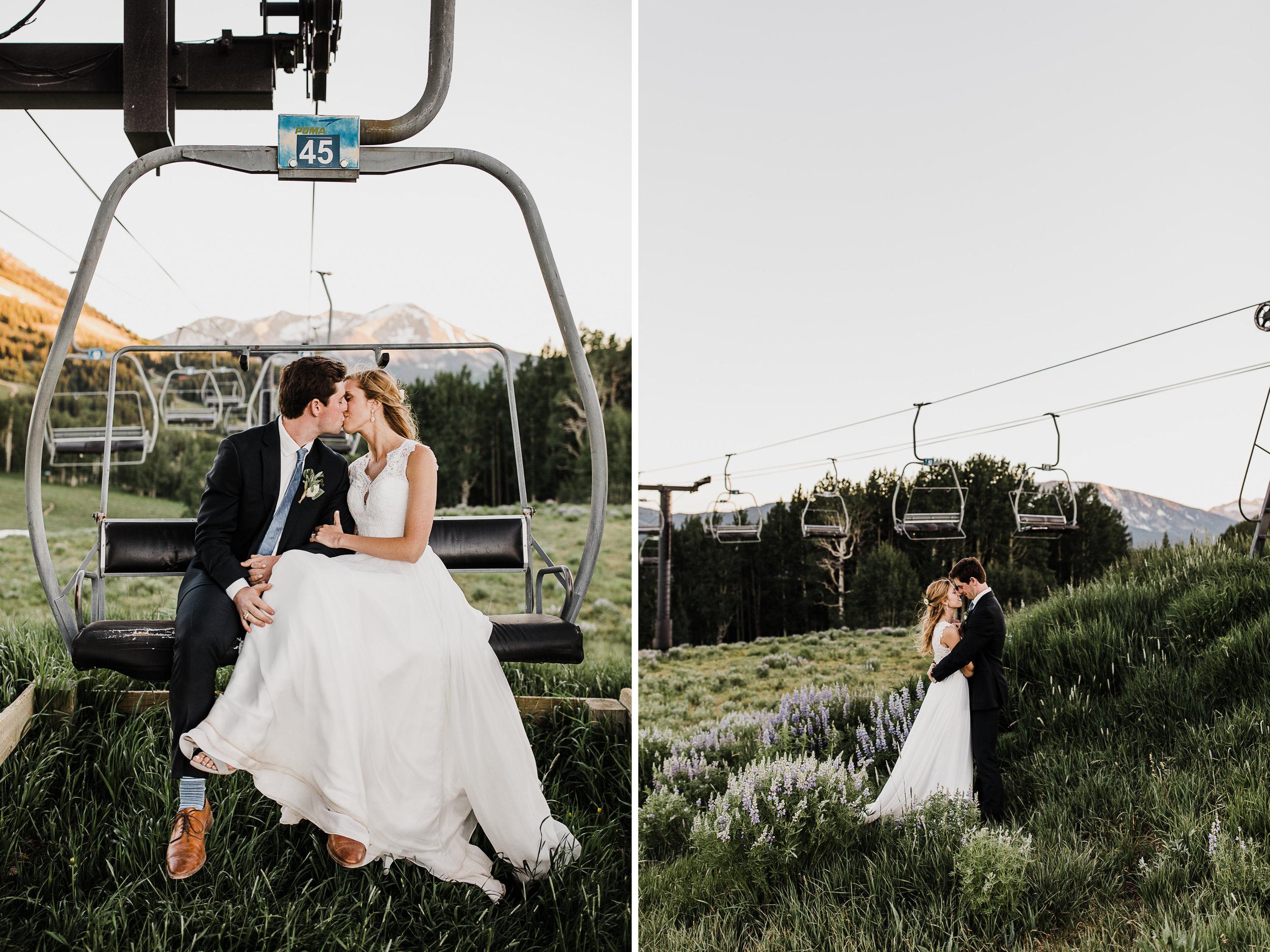 created butte, colorado intimate ski resort wedding | destination adventure wedding photographers | the hearnes adventure photography | www.thehearnes.com