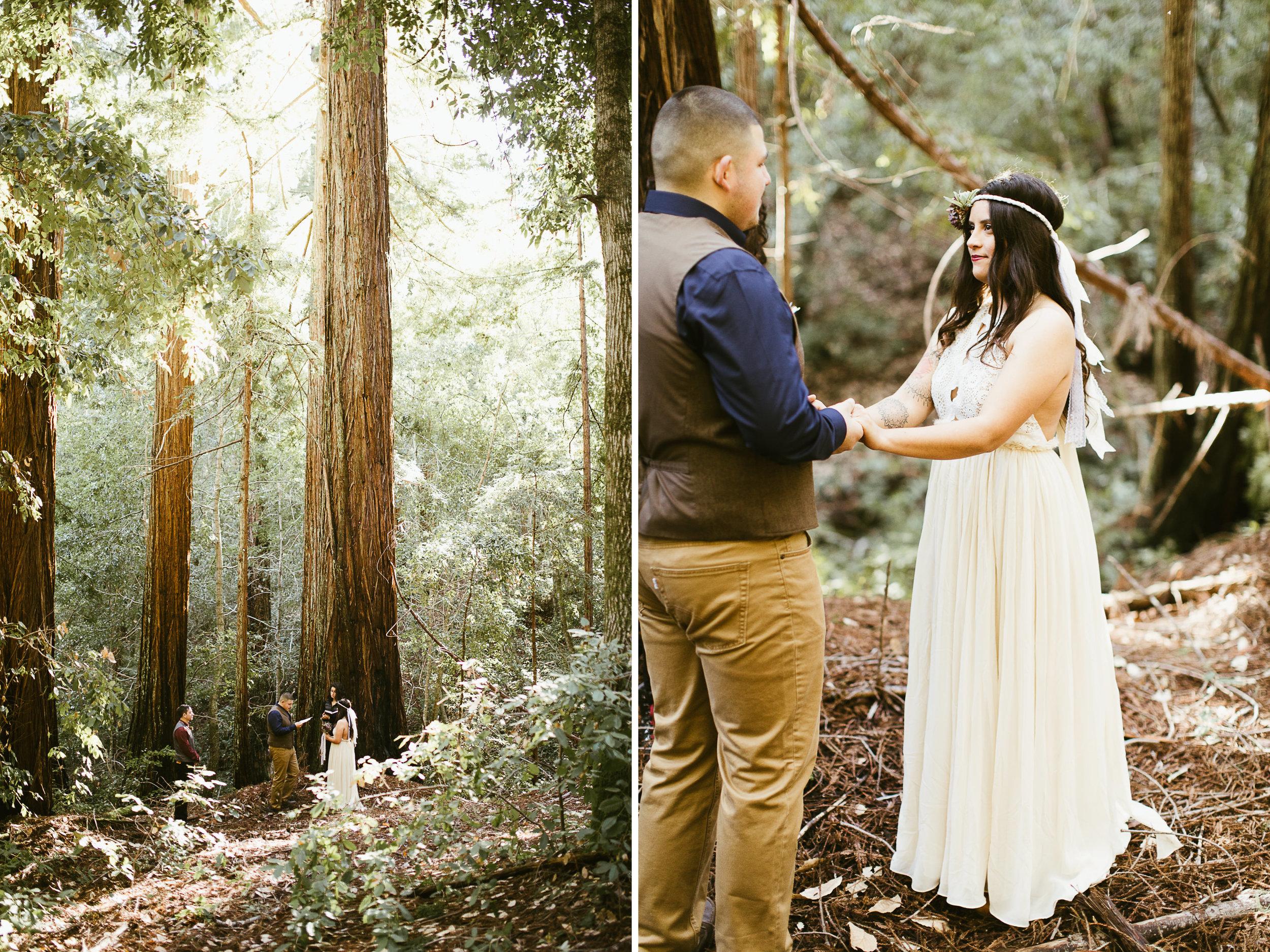 california redwoods forest elopement | destination adventure wedding photographers | the hearnes adventure photography | www.thehearnes.com