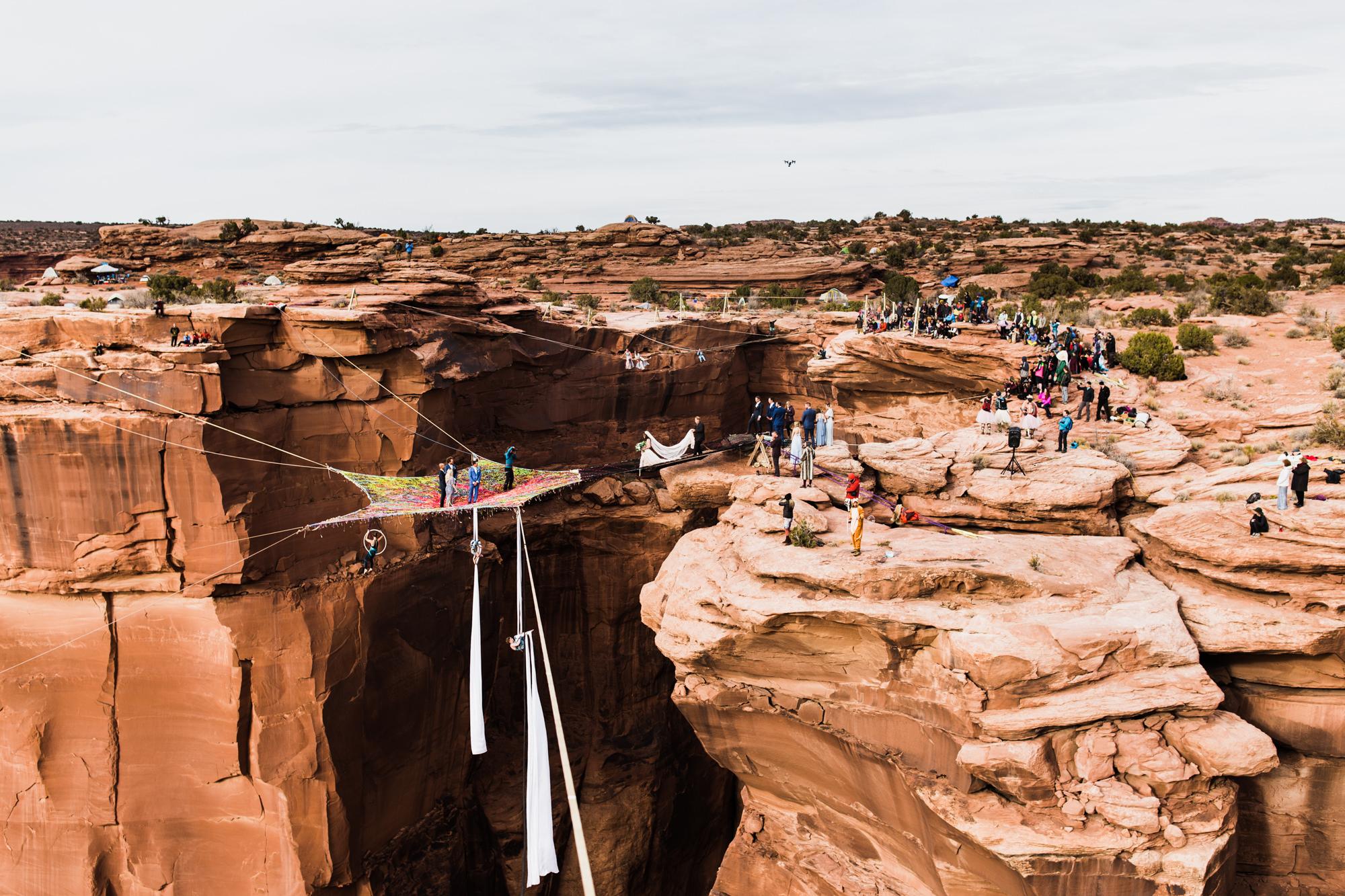 spacenet wedding in moab, utah | destination adventure wedding photographers | the hearnes adventure photography | www.thehearnes.com