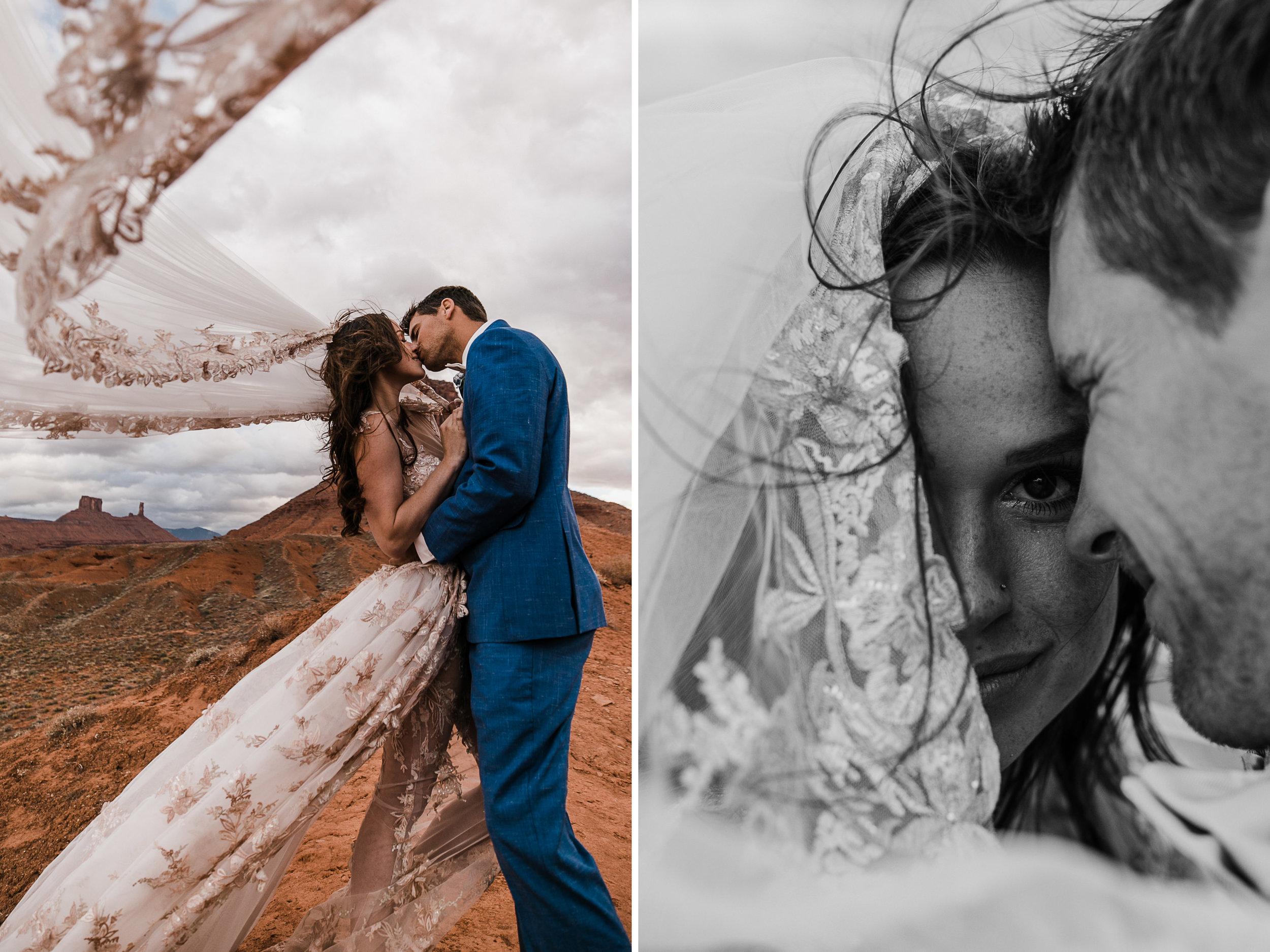 adventure elopement in moab, utah | destination adventure wedding photographers | the hearnes adventure photography | www.thehearnes.com
