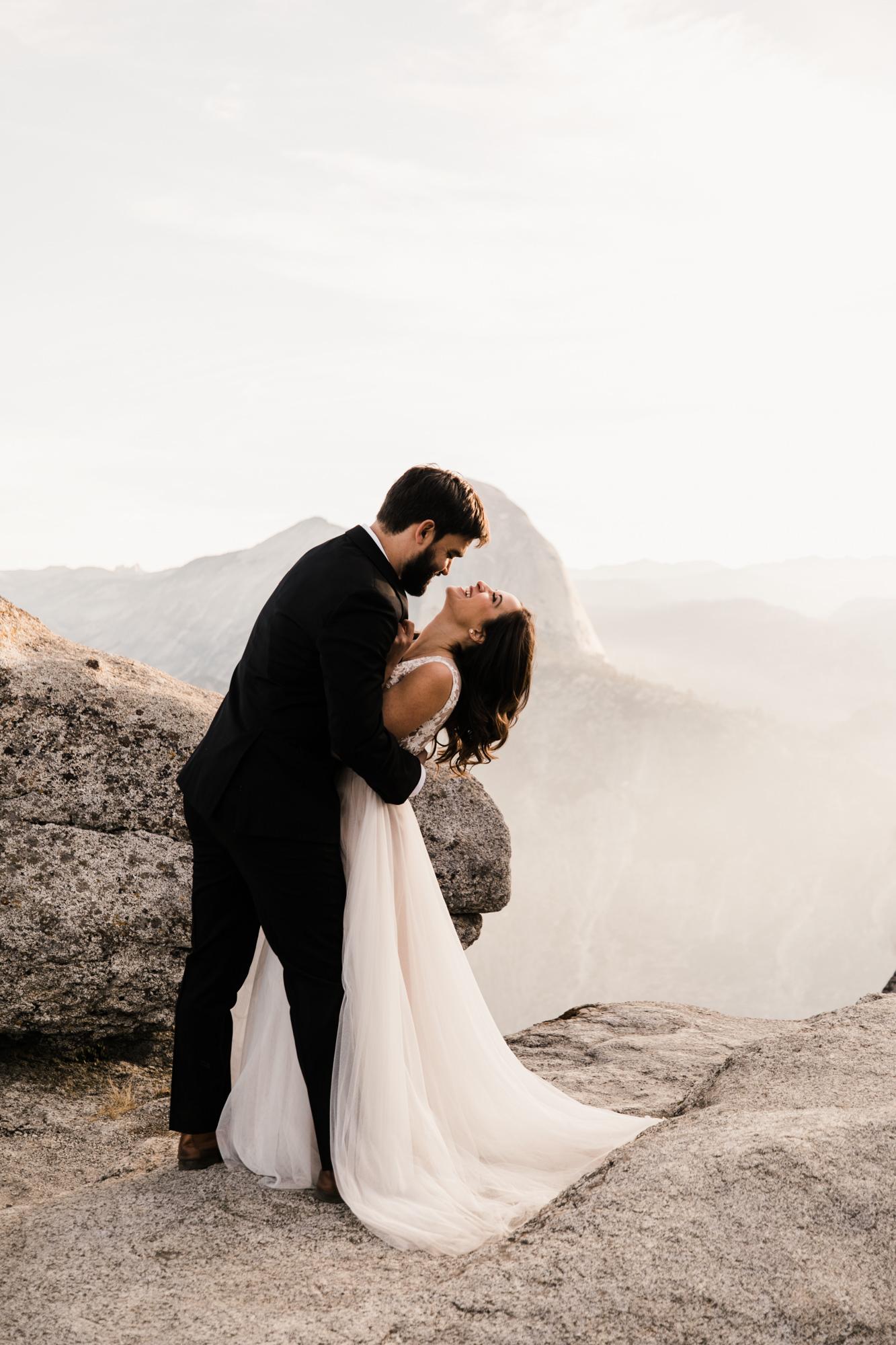 intimate yosemite elopement | destination adventure wedding photographers | the hearnes adventure photography | www.thehearnes.com