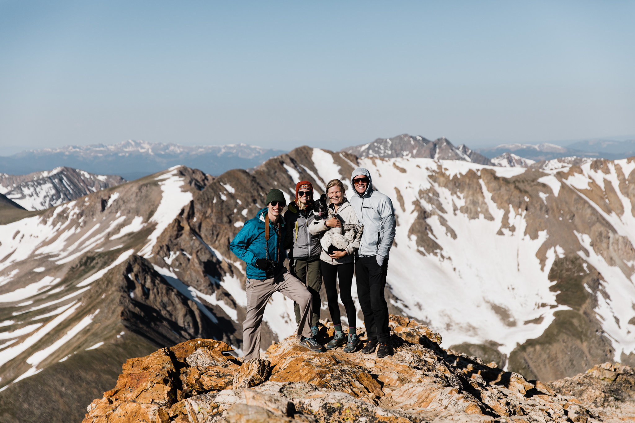 mountain climbing in colorado | utah and california adventure elopement photographers | the hearnes adventure photography | www.thehearnes.com