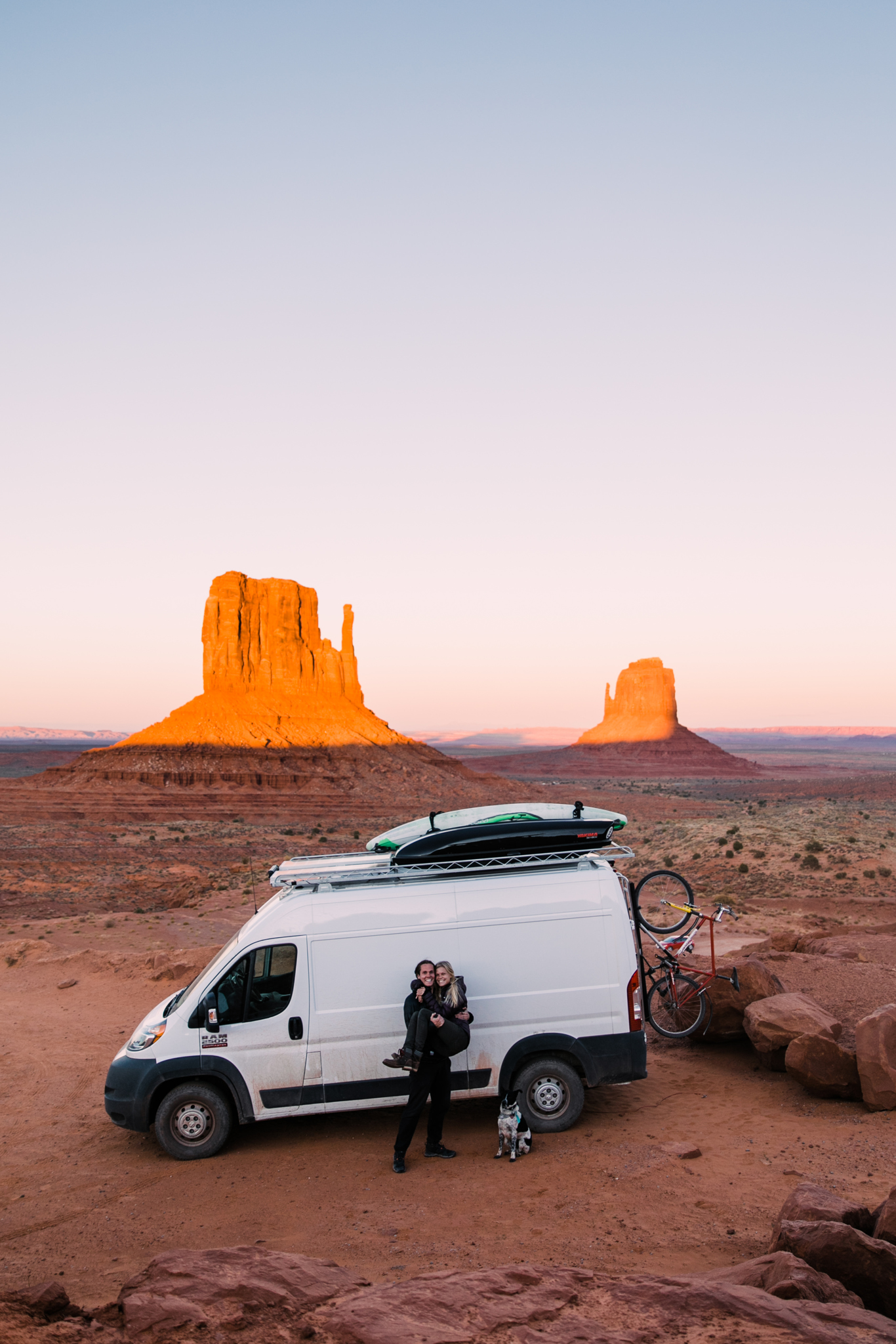 vanlife in monument valley