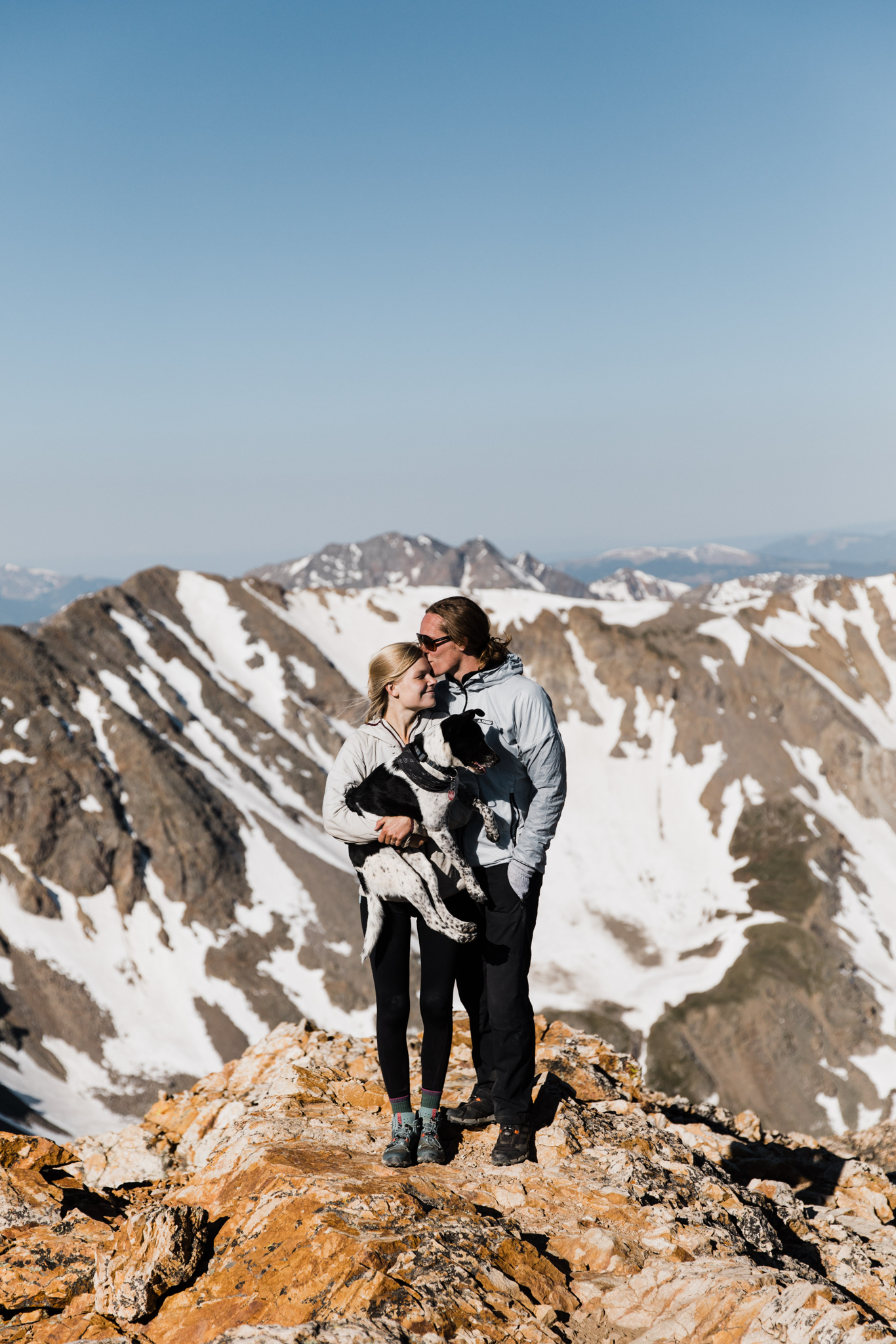 climbing mountains in colorado | utah and california adventure elopement photographers | the hearnes adventure photography | www.thehearnes.com
