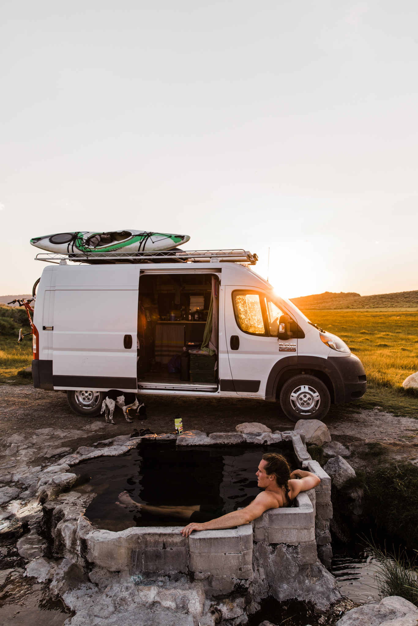 hot springs and van life | utah and california adventure elopement photographers | the hearnes adventure photography | www.thehearnes.com
