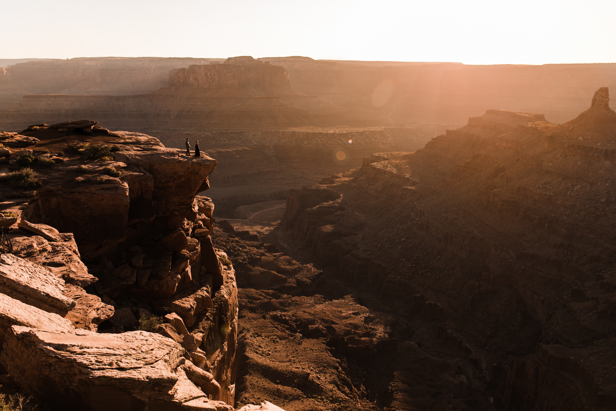 utah desert engagement session at dead horse point state park
