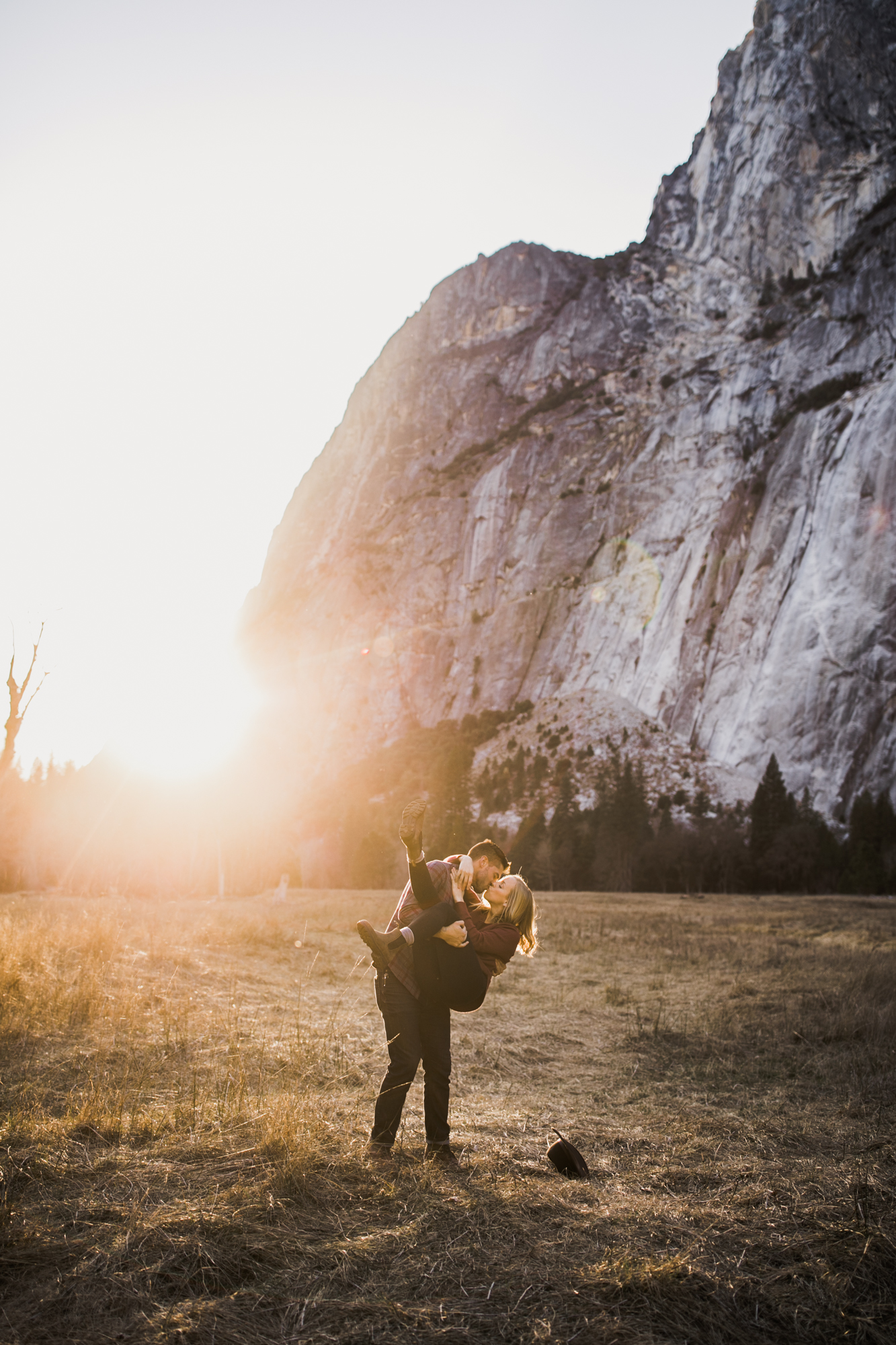 hannah + jason's van life engagement photos in yosemite | national park wedding photographer | the hearnes adventure photography | www.thehearnes.com