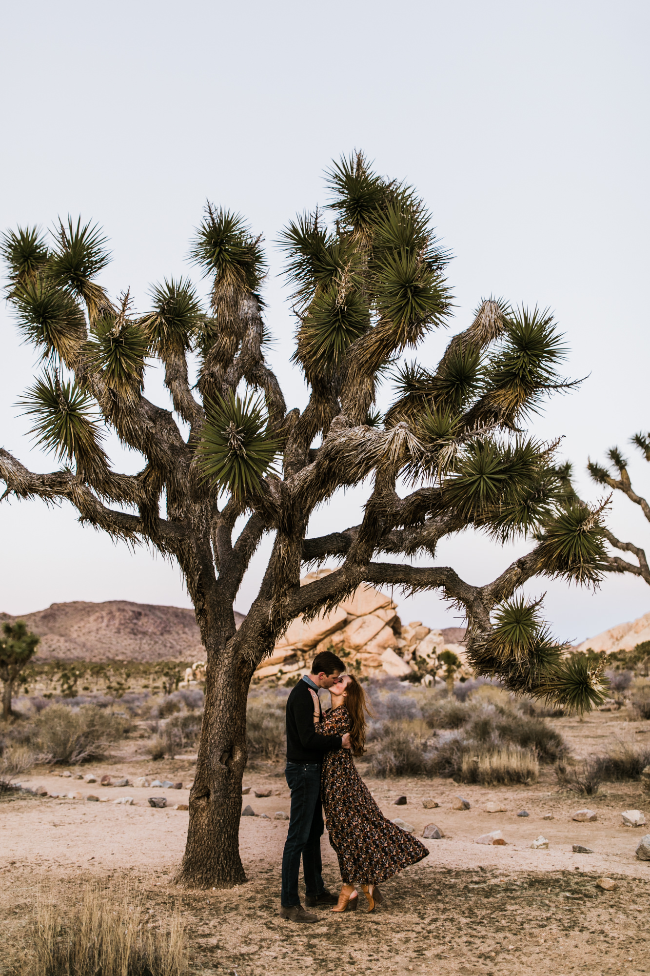 adventurous engagement photos in joshua tree | national park elopement photographer | the hearnes adventure photography | www.thehearnes.com
