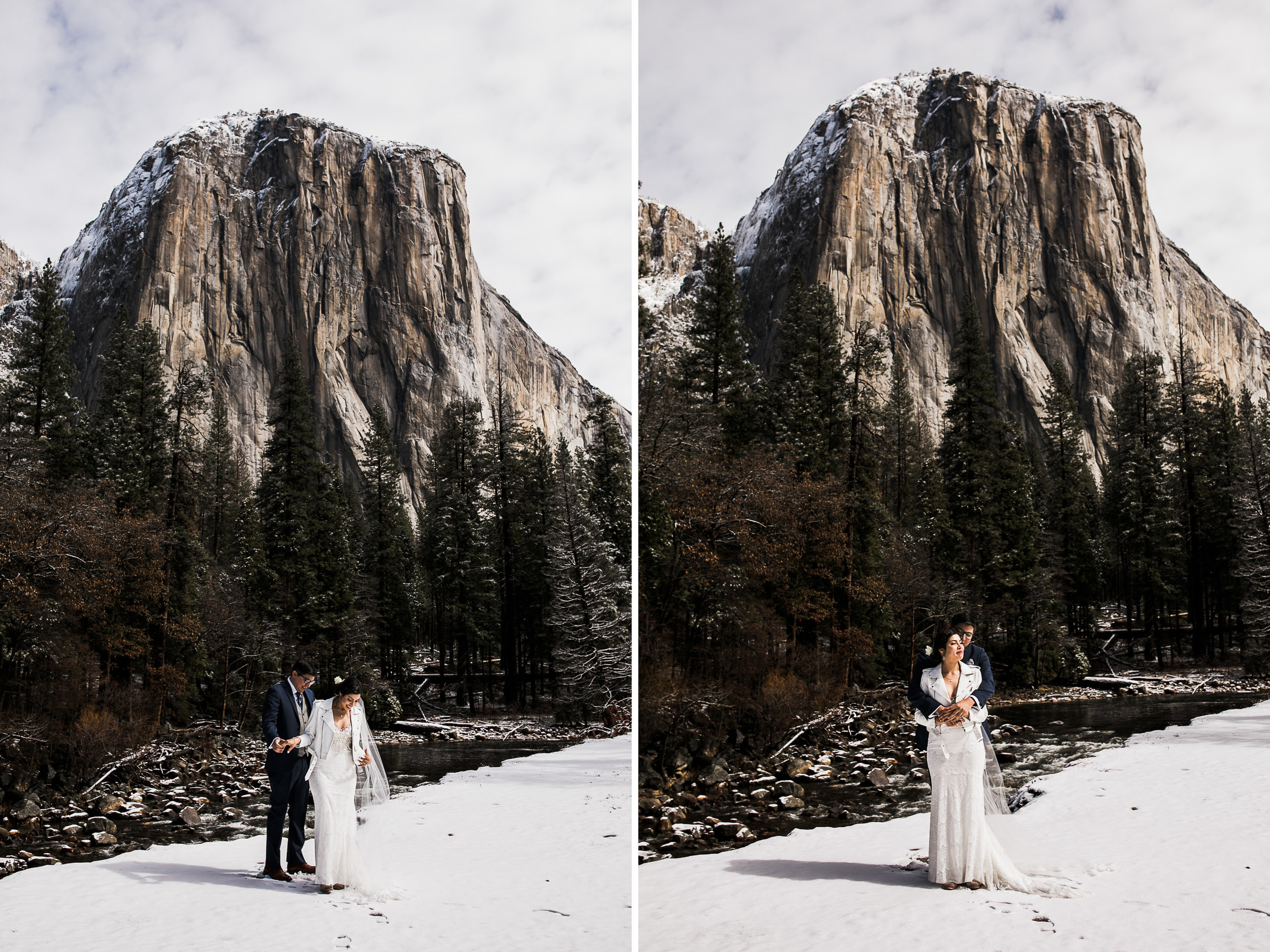 lorilee and ivan's first look in yosemite