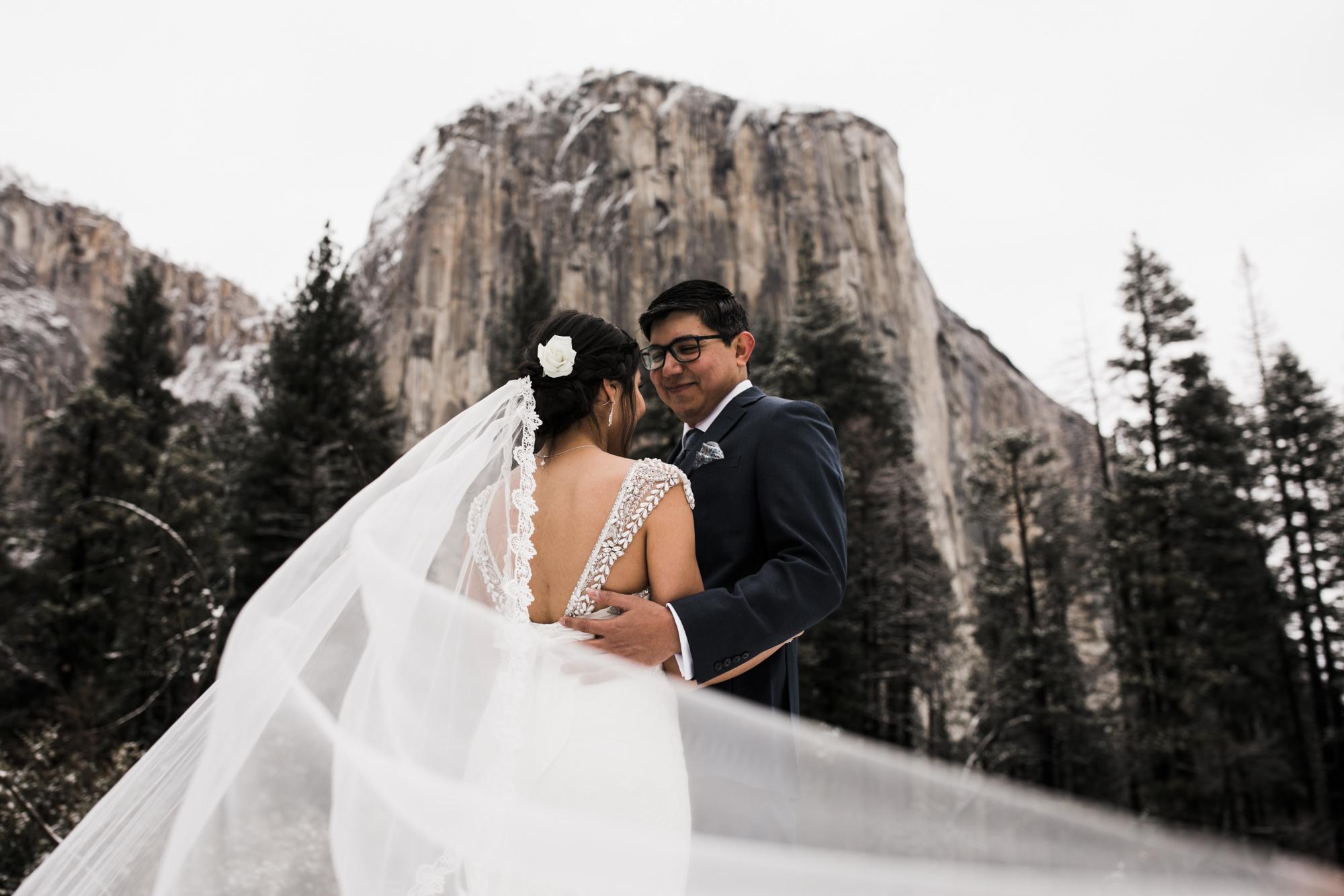 bridal portraits in yosemite national park