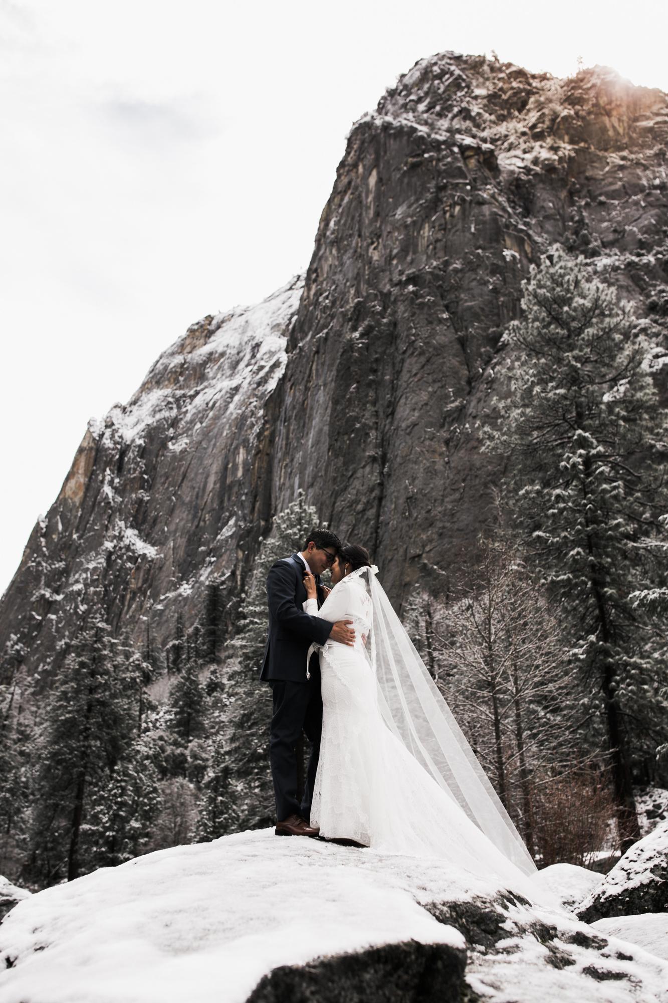 winter yosemite elopement