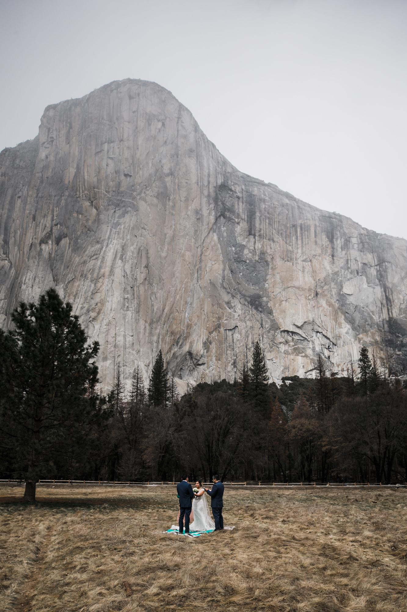 el cap meadow is one of our favorite wedding locations in yosemite