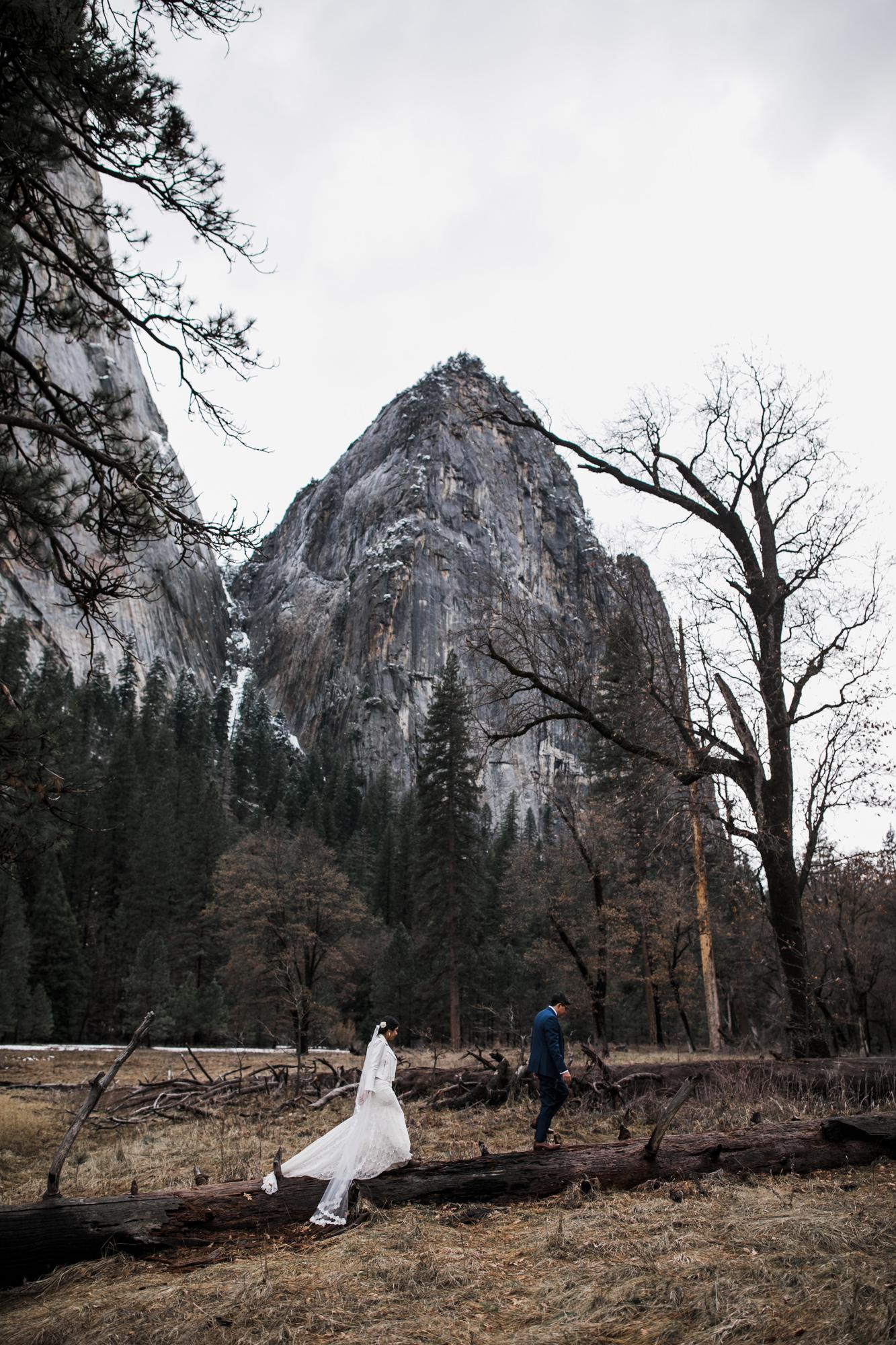 adventurous wedding photos in yosemite