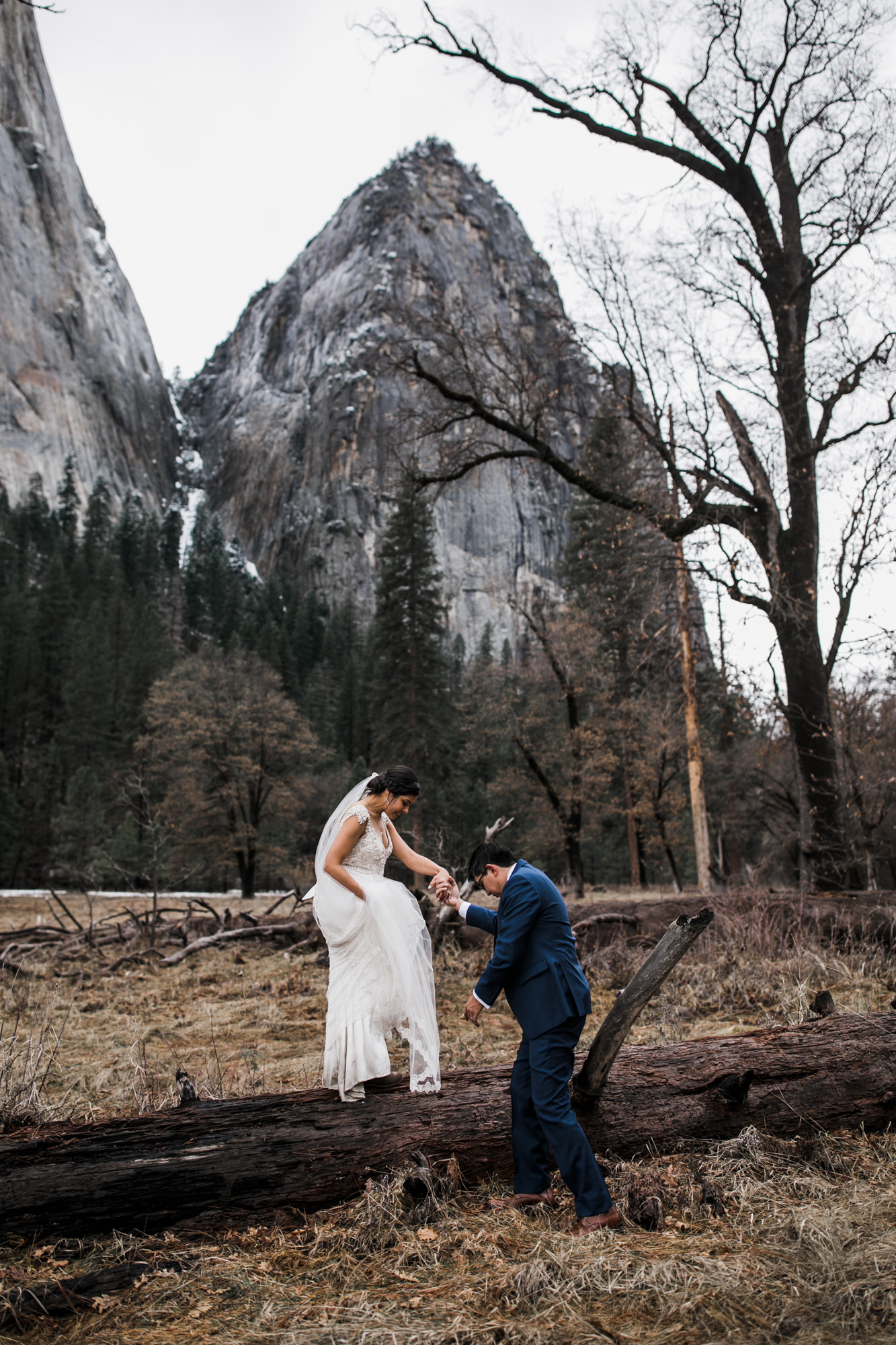 adventure elopement photographer in yosemite