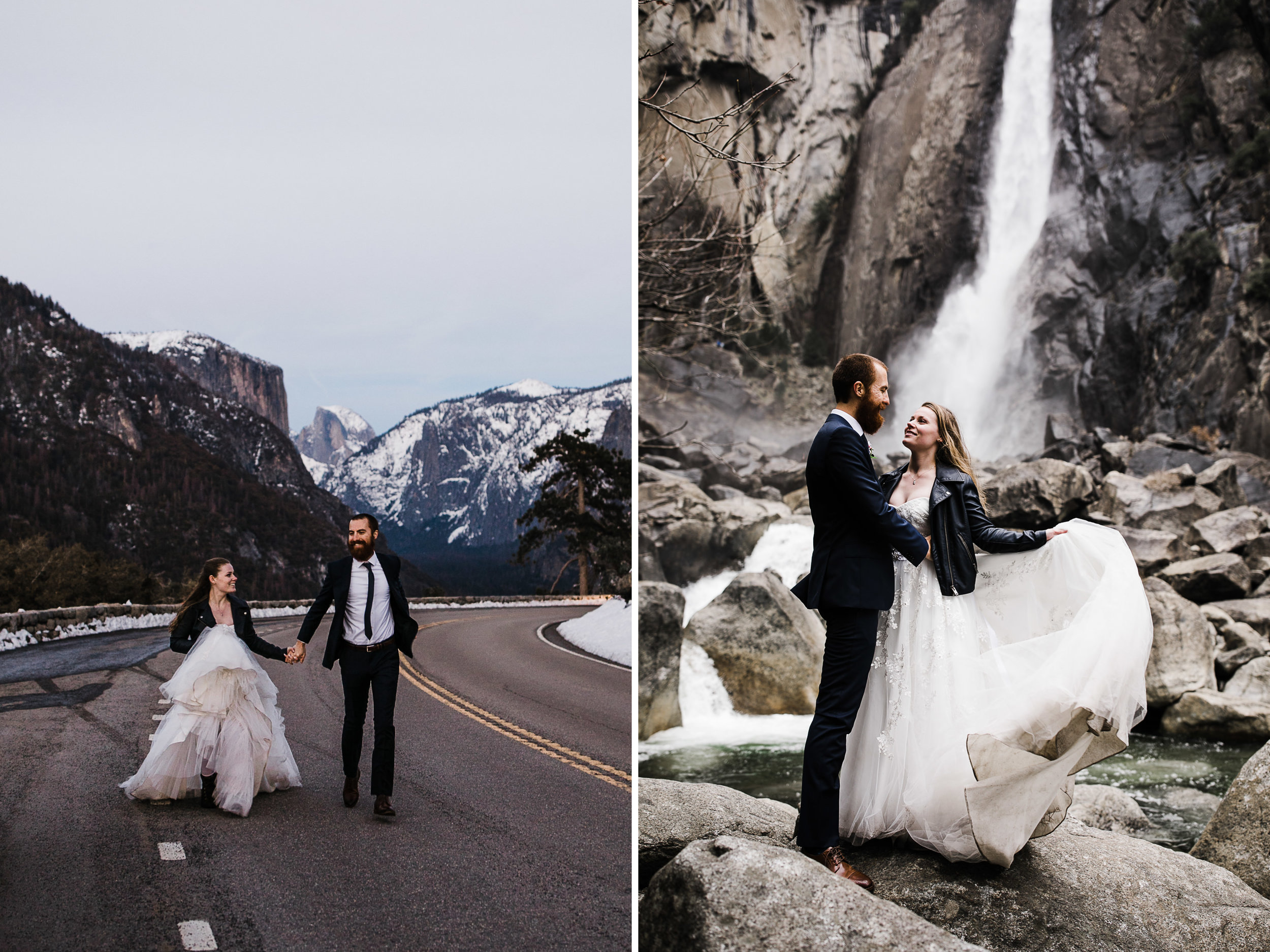 winter elopement ceremony in yosemite national park | The Hearnes Adventure Photography