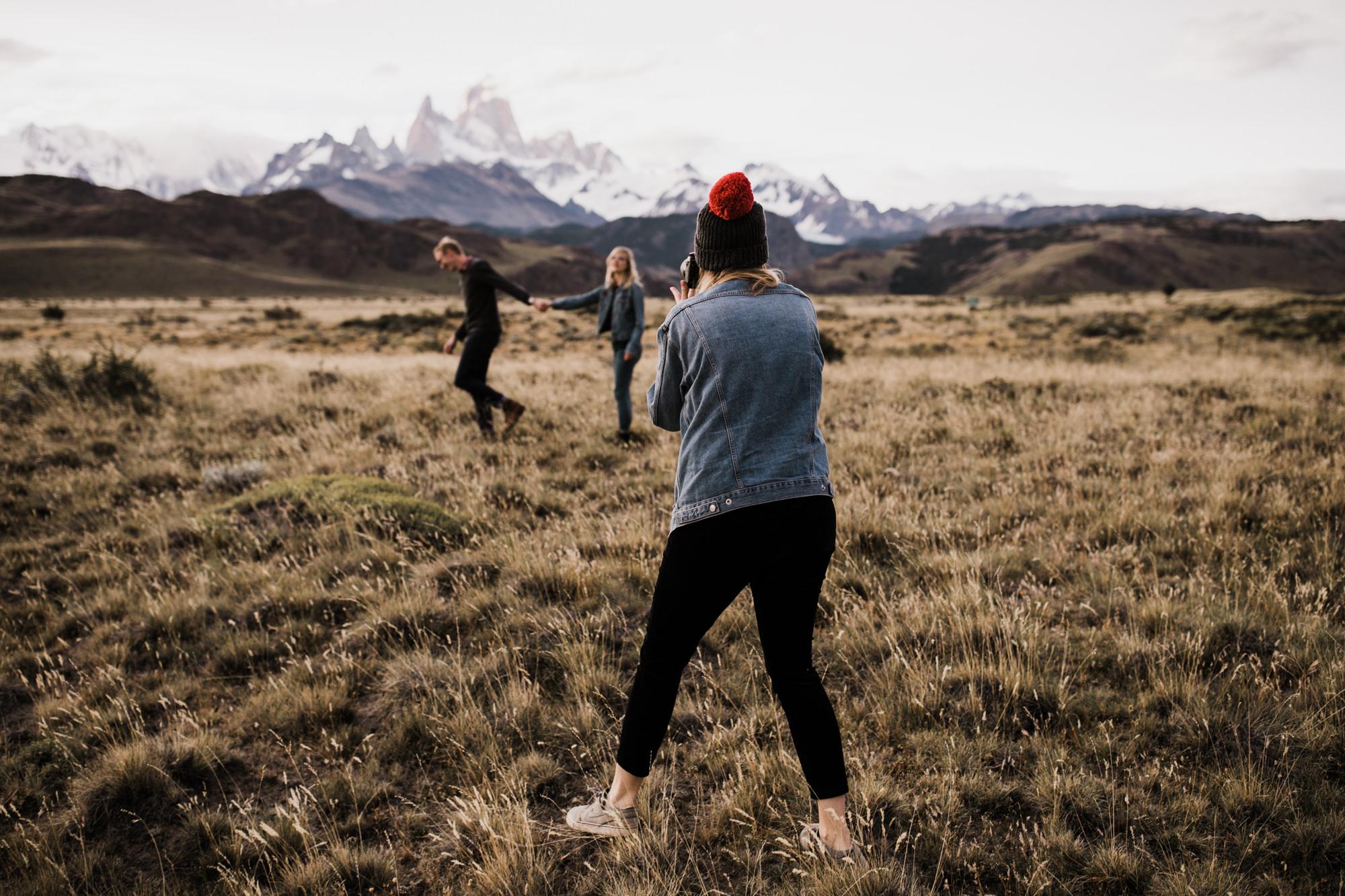 adventure photographer in patagonia