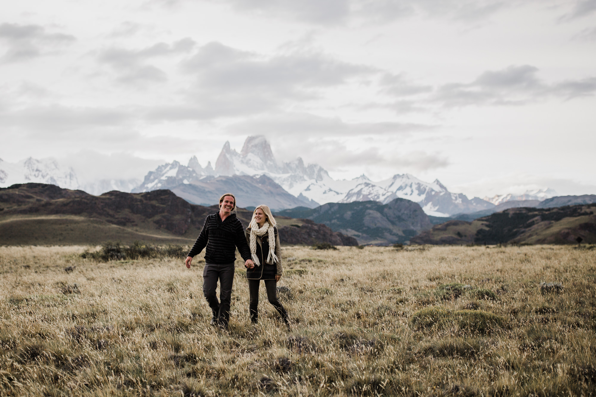 the hearnes, adventure wedding photographers in patagonia