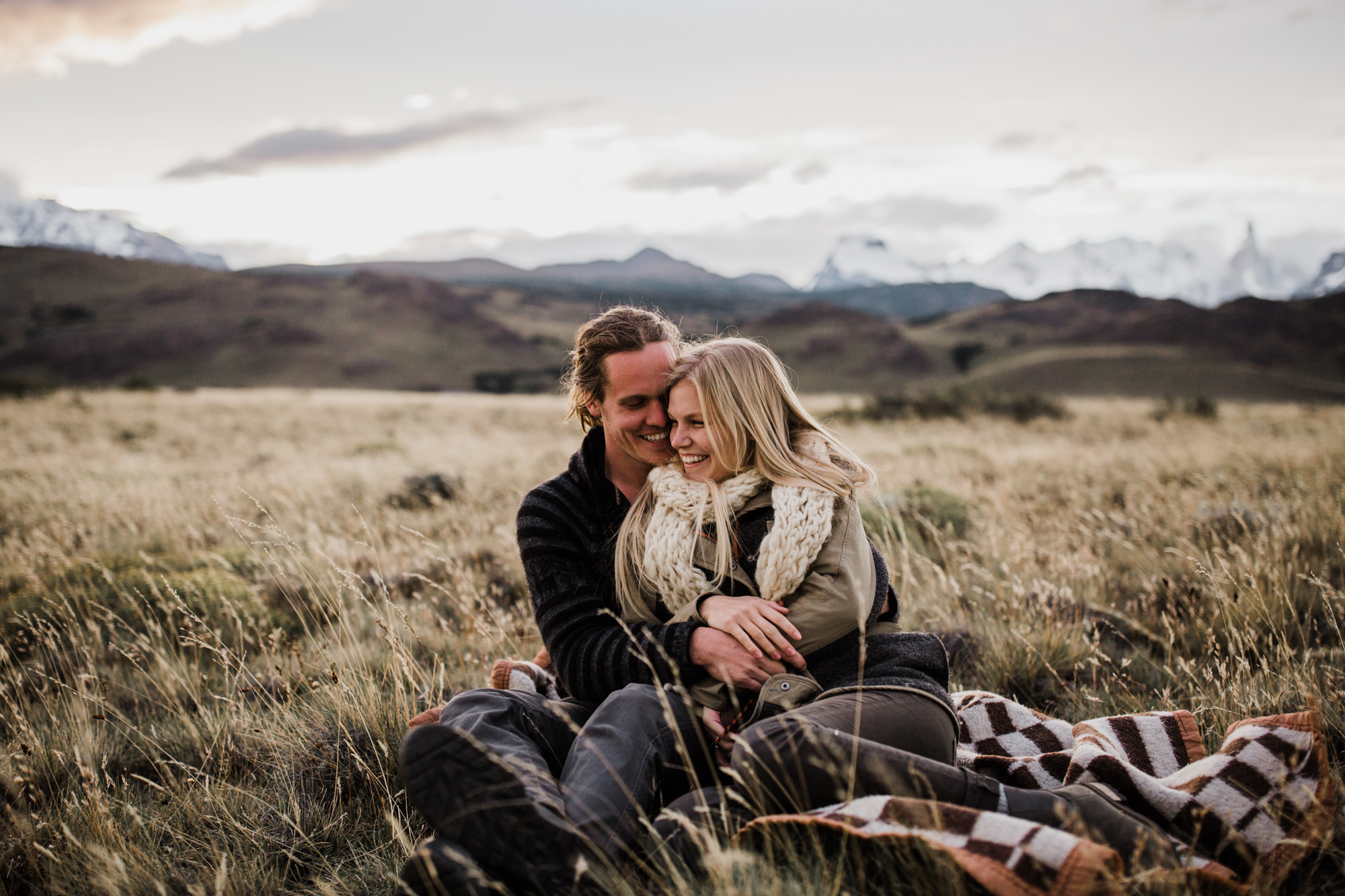 the hearnes, adventure wedding photographers, in patagonia