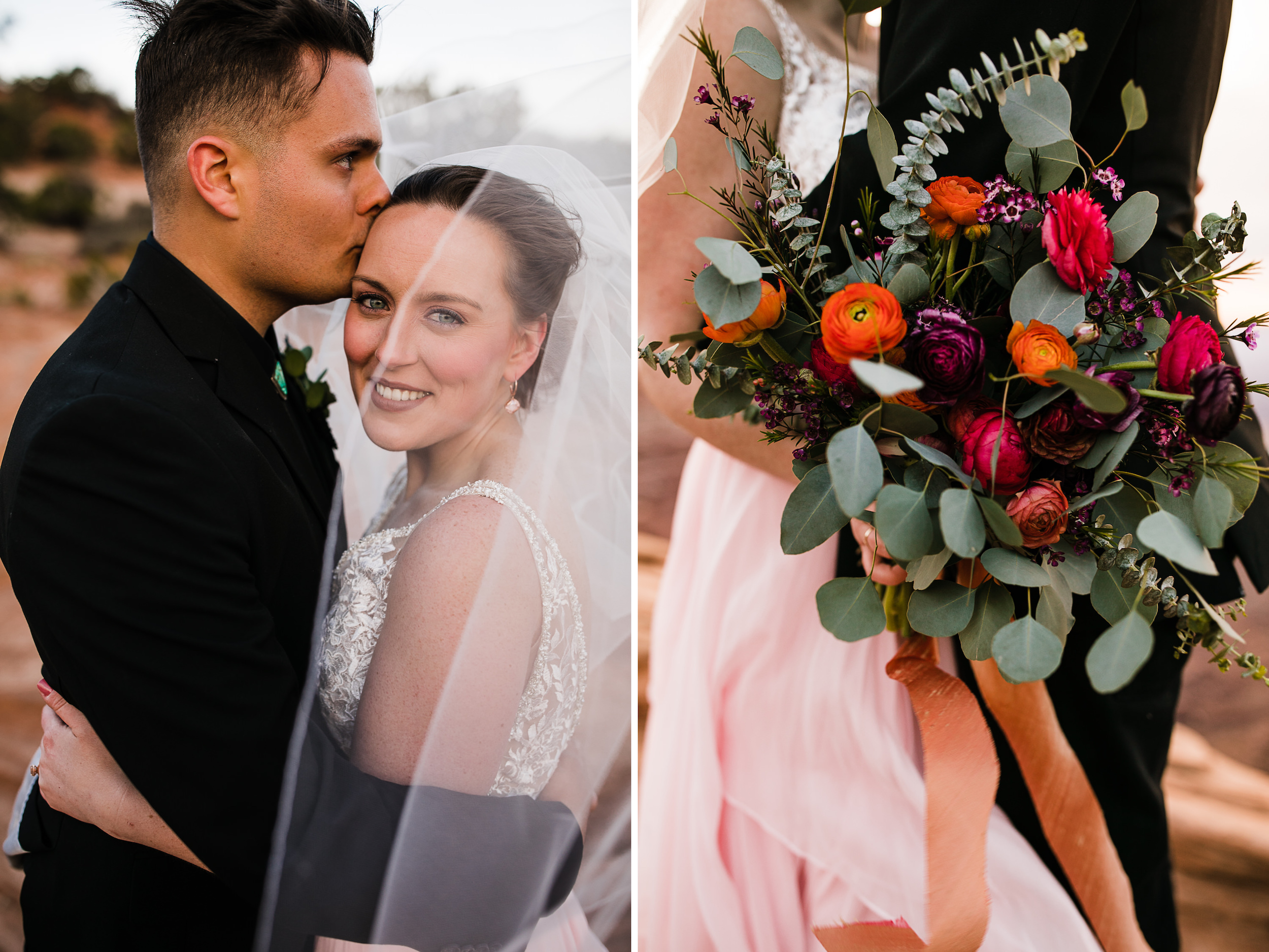 desert wedding in canyonlands national park | mesa arch elopement | moab utah wedding photographer | desert wedding bouquet | the hearnes adventure photography