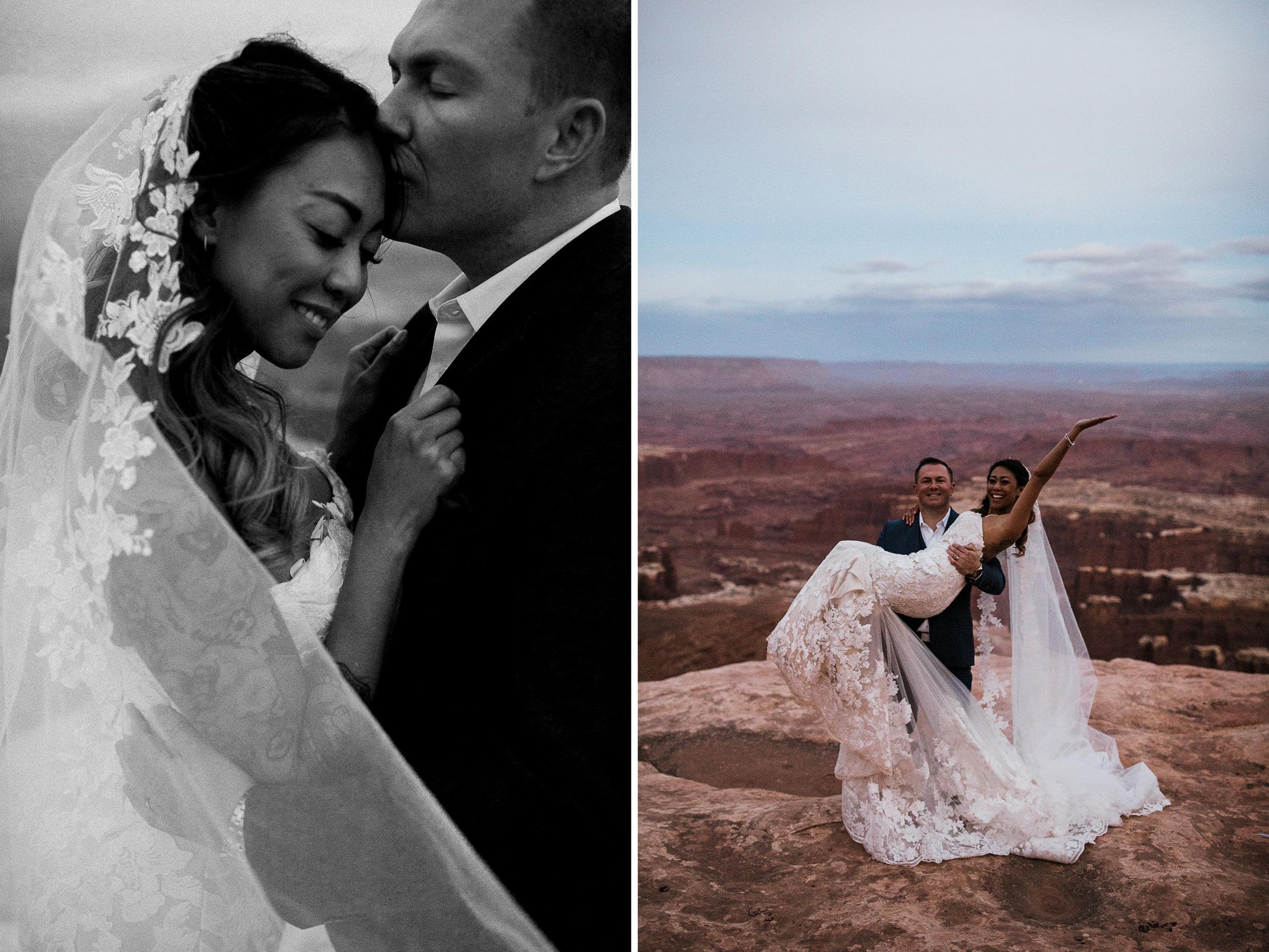 elopement wedding canyonlands national park near moab utah   adventurous desert wedding inspiration   small wedding in utah   the hearnes adventure photography