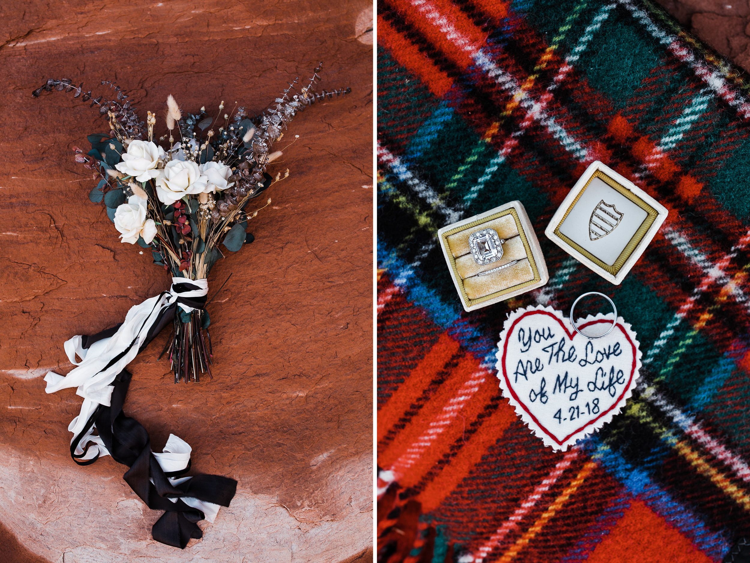 ben + rachelle's elopement in a secret canyon near Moab, Utah | canyonlands national park first look + portraits | secret ceremony on the edge of a cliff | moab adventure wedding photographer