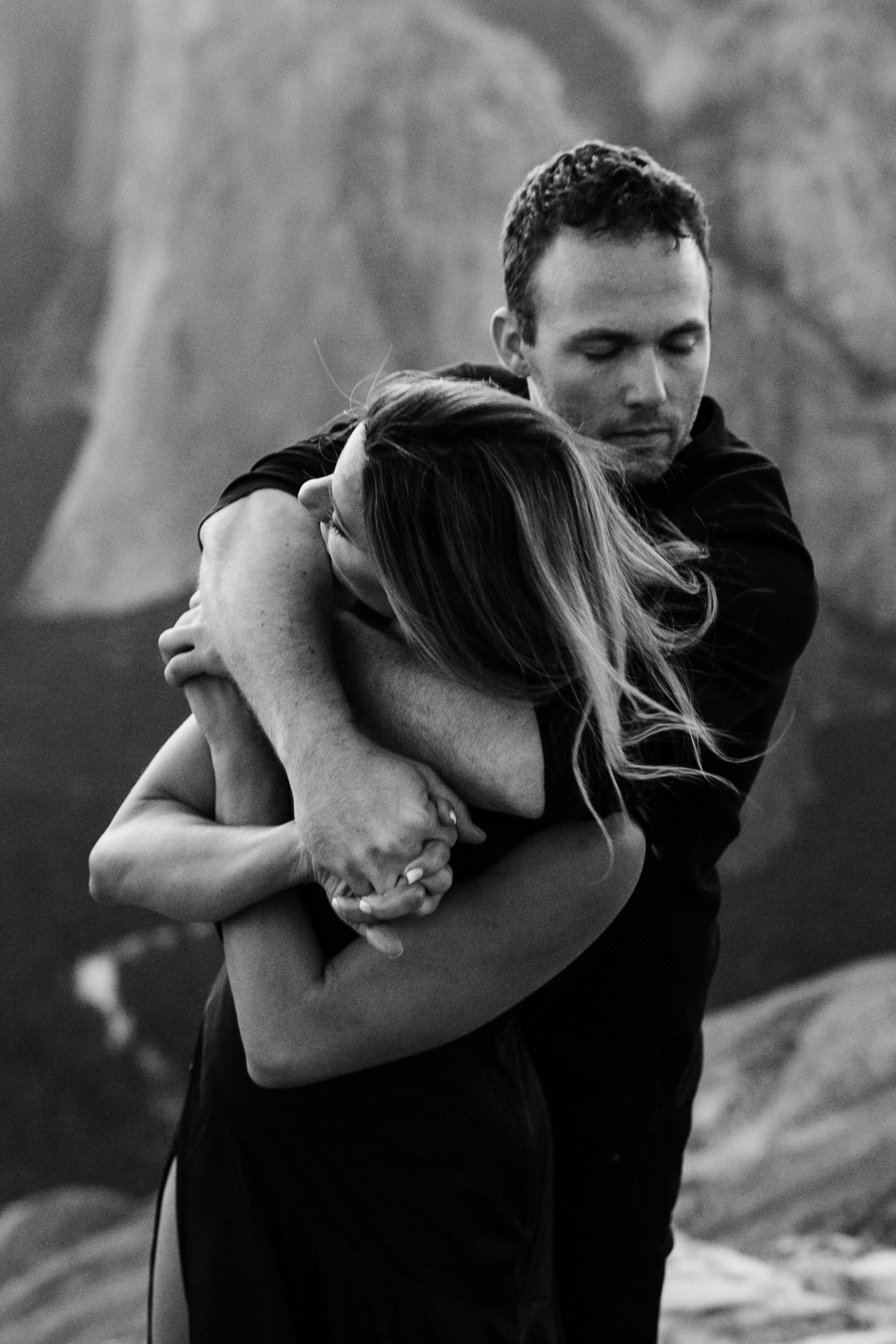 alexandra + david's destination engagement session in the mountains | yosemite elopement inspiration | taft point engagement photos | yosemite national park wedding photographer