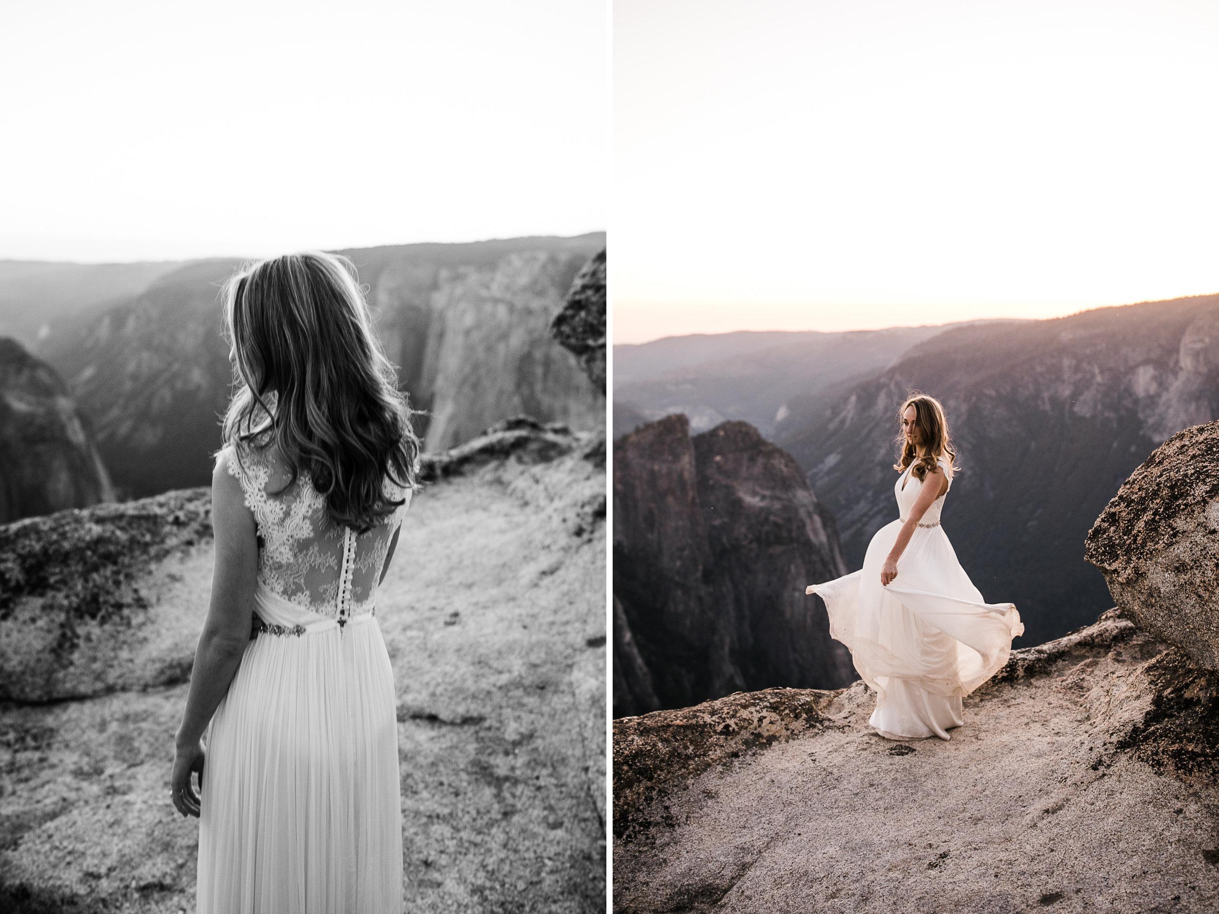 Chas + Michelle's adventurous wedding portraits | post-elopement photos in yosemite national park |adventure wedding photographer