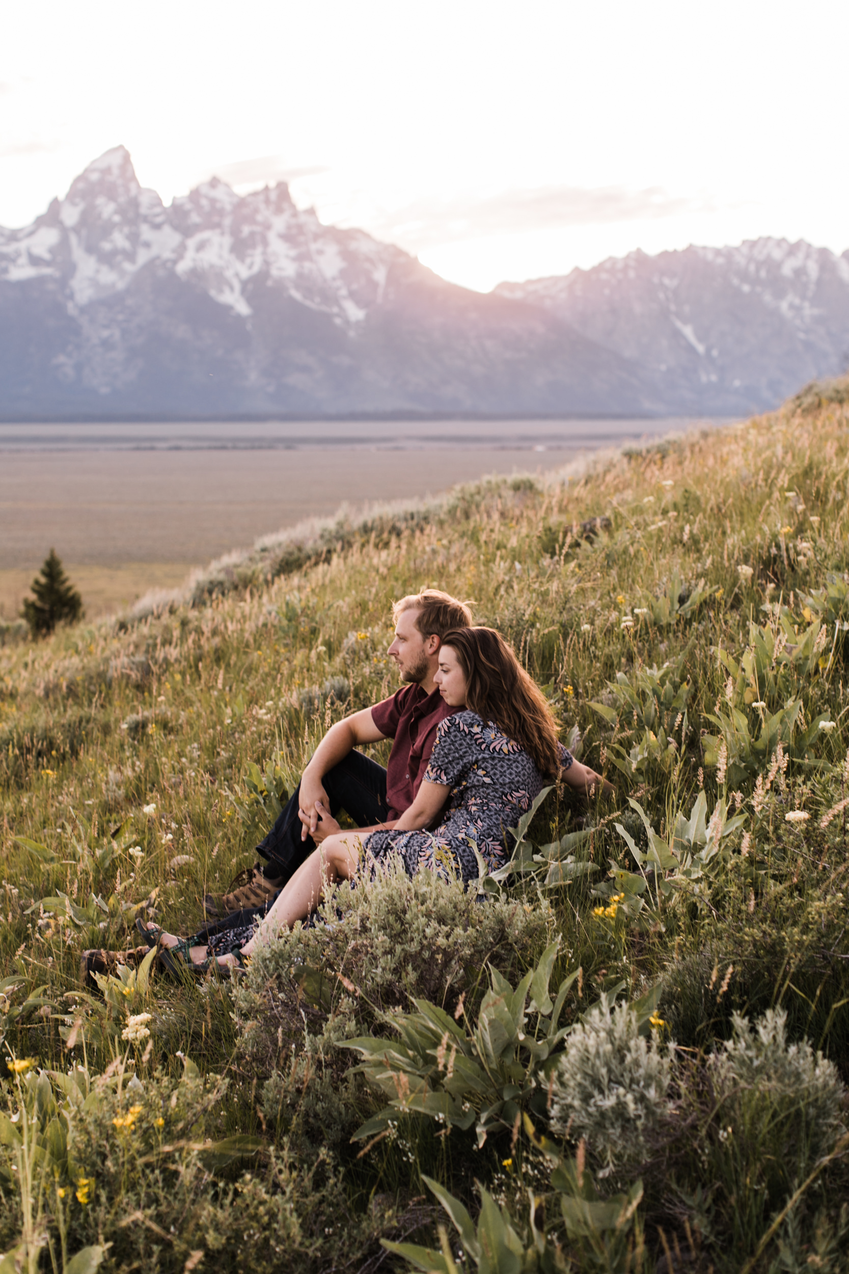 maggie + gary's adventure engagement session in grand teton national park | jackson hole, wyoming wedding photographer | the hearnes adventure photography